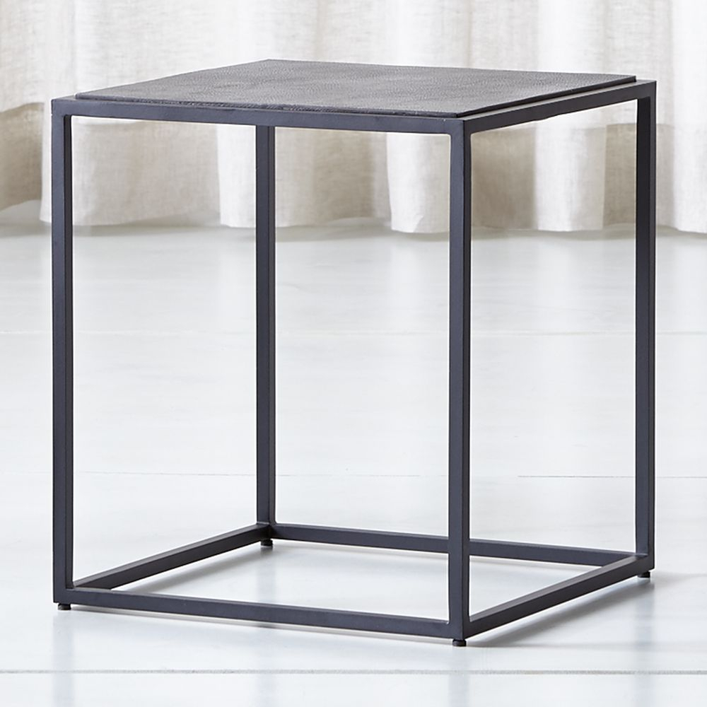 Mix Leather Imprint Tall Metal Frame Side Table | Products | Table Throughout Mix Leather Imprint Metal Frame Console Tables (View 2 of 30)