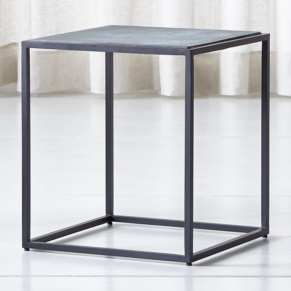 Mix Patina Tall Metal Frame Side Table In 2018 | Products intended for Mix Agate Metal Frame Console Tables (Image 21 of 30)