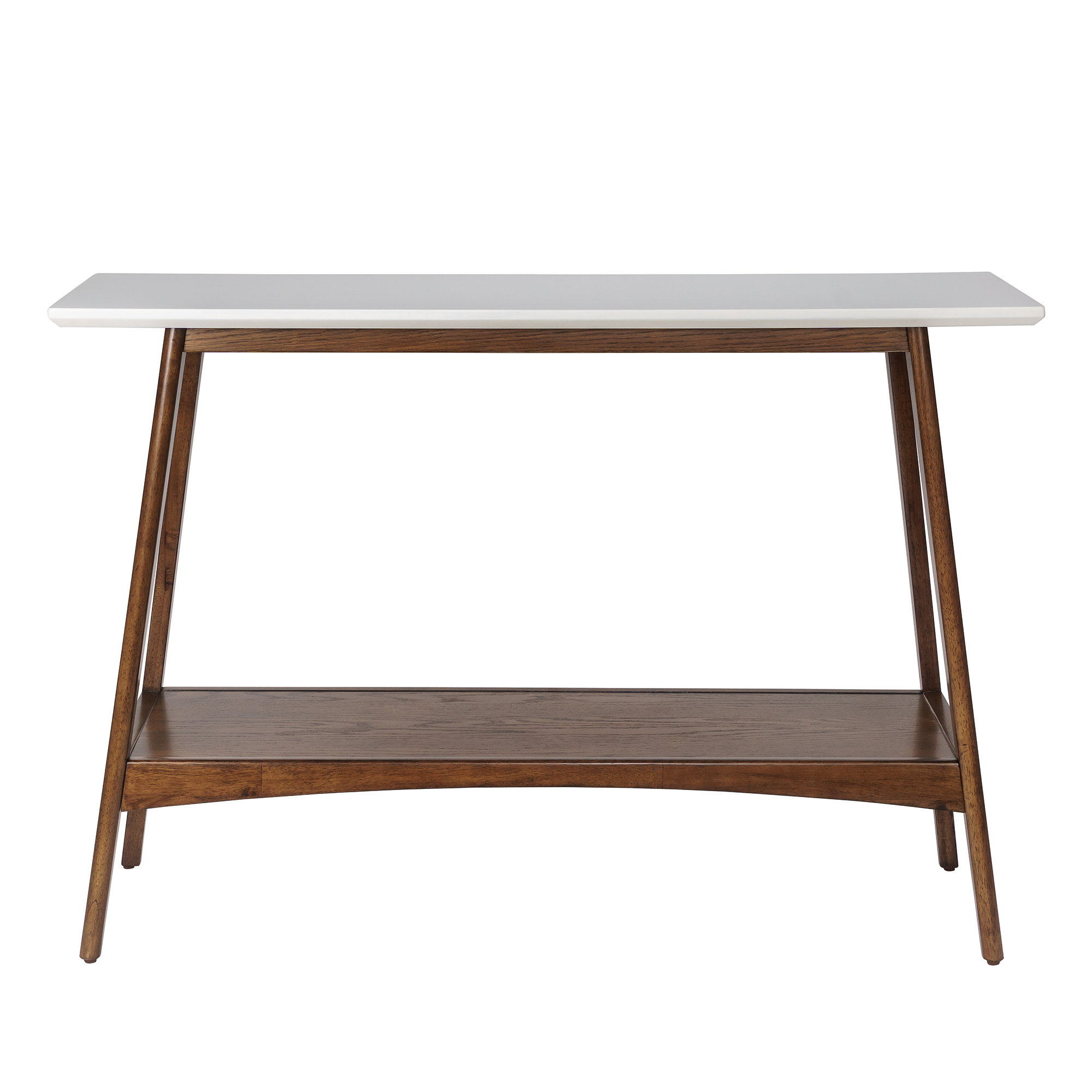 Modern Console + Sofa Tables | Allmodern Throughout Mix Leather Imprint Metal Frame Console Tables (View 7 of 30)