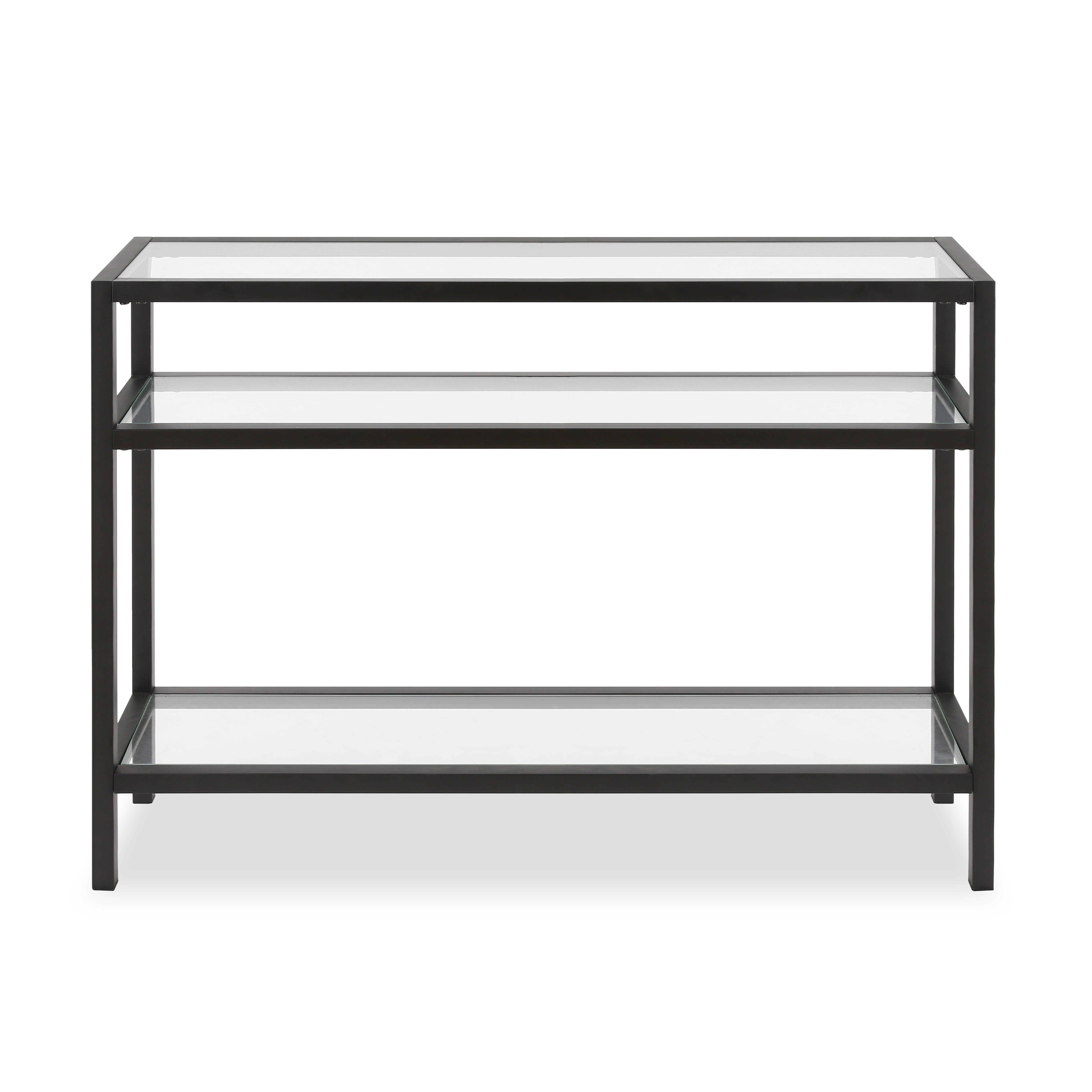 Modern Console + Sofa Tables | Allmodern Within Mix Leather Imprint Metal Frame Console Tables (View 5 of 30)