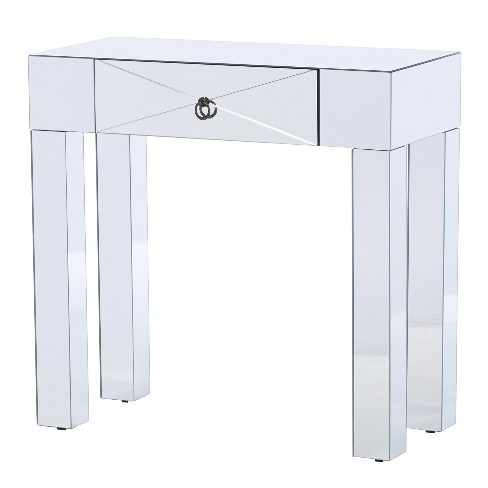 Modern & Contemporary Mirrored Media Console | Allmodern In Gunmetal Media Console Tables (View 20 of 30)