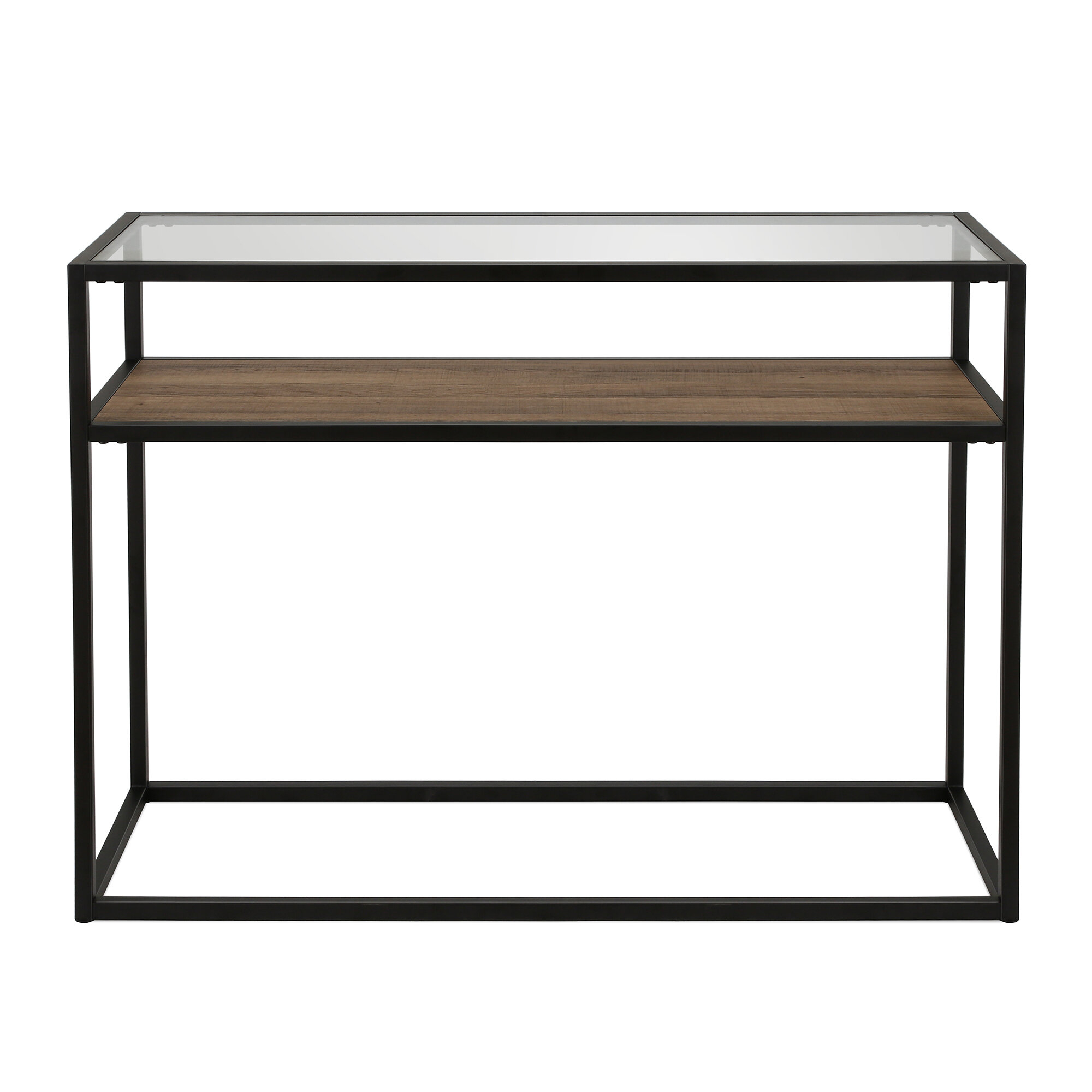 Modern Glass Console Tables | Allmodern In Roman Metal Top Console Tables (View 24 of 30)