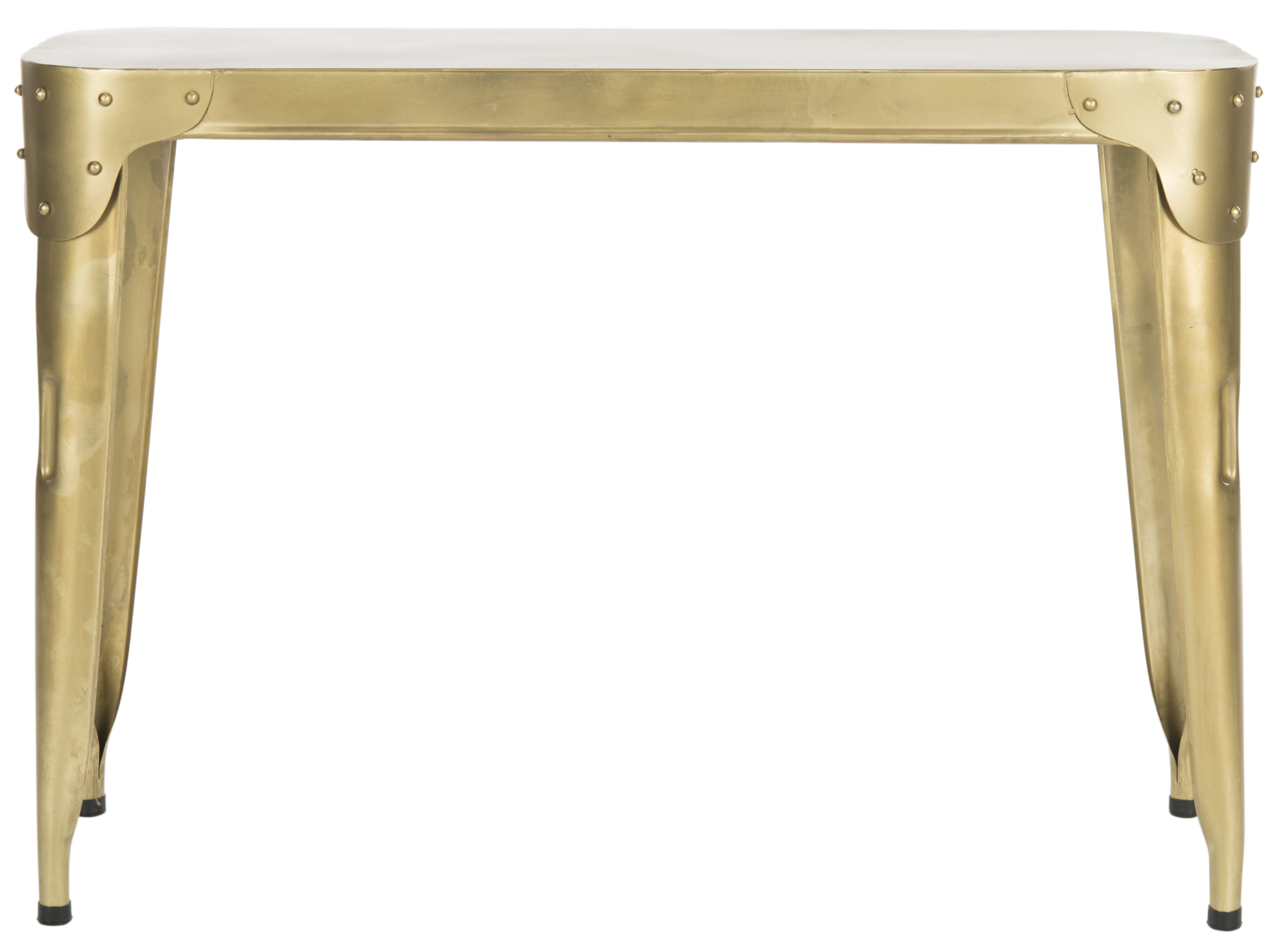 Modern Gold Console Tables | Allmodern With Roman Metal Top Console Tables (View 20 of 30)