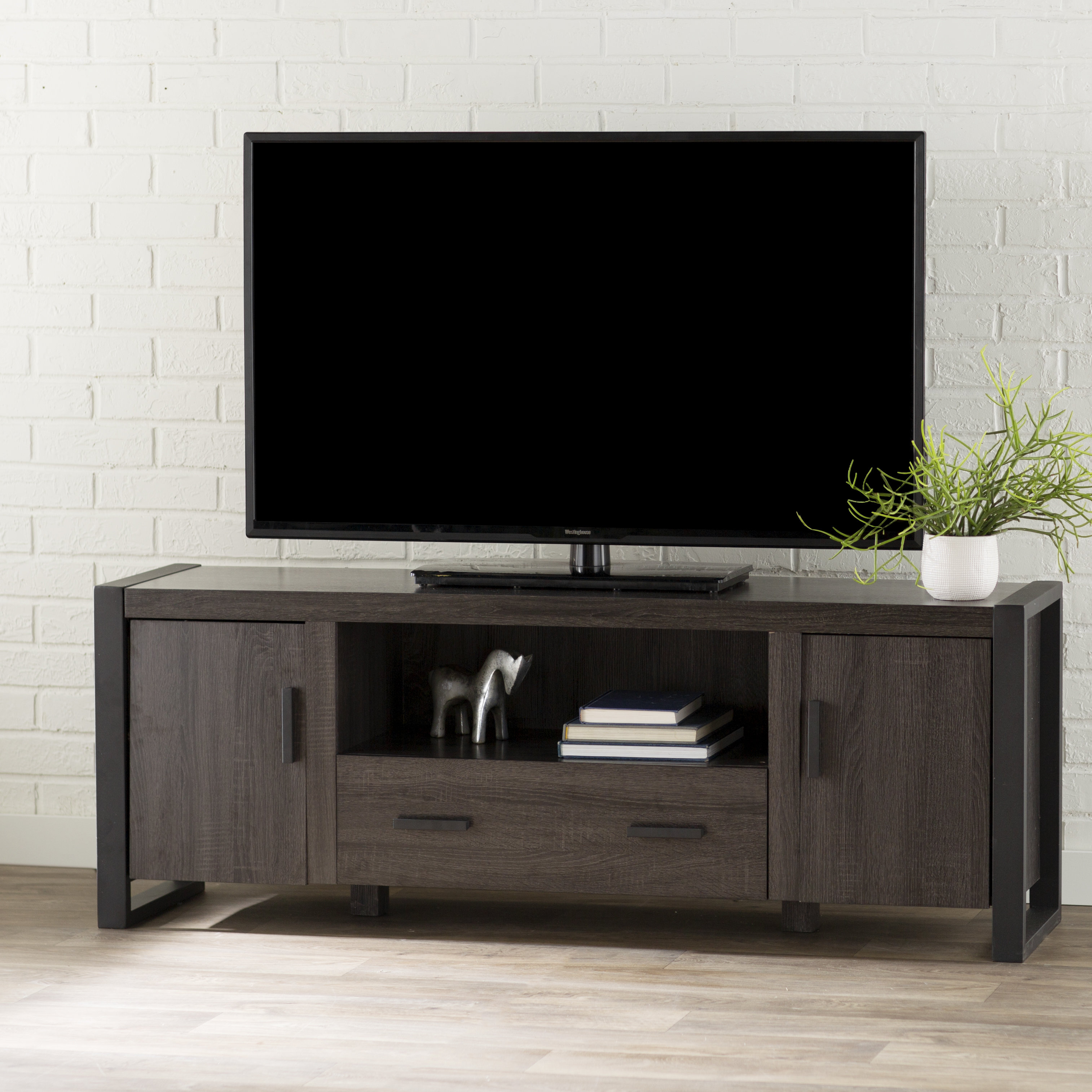 Modern Grey Tv Stands | Allmodern Throughout Sinclair White 54 Inch Tv Stands (View 15 of 30)