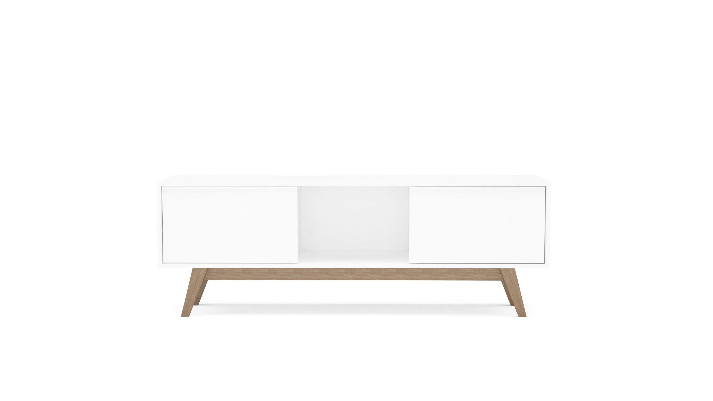 Modern White Tv Stands | Allmodern Regarding Natural 2 Door Plasma Console Tables (View 24 of 30)