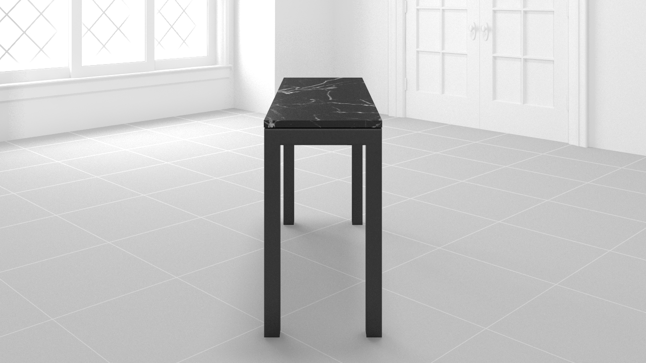 Modsy intended for Parsons Travertine Top & Dark Steel Base 48X16 Console Tables (Image 17 of 30)