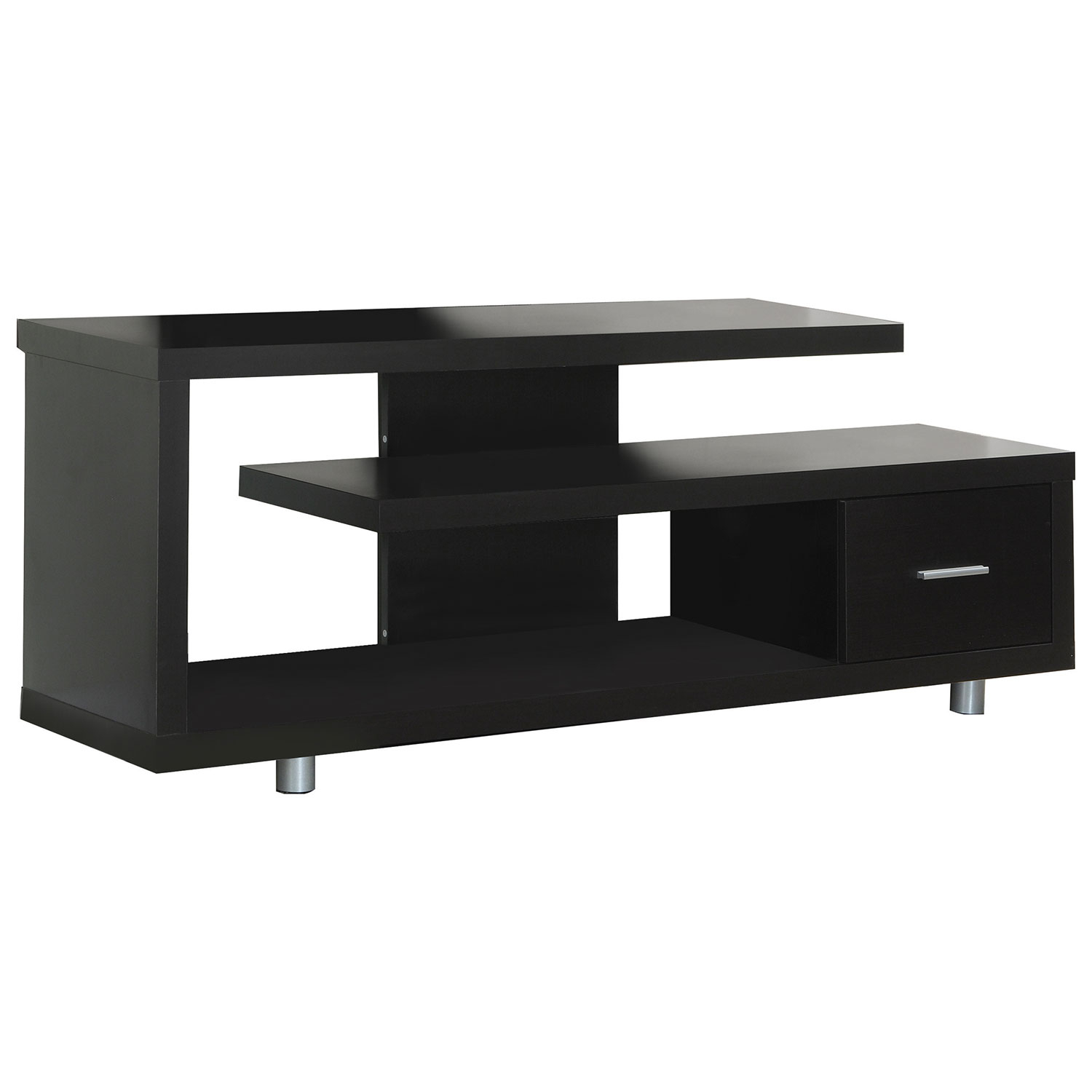 """Monarch Open Tv Stand For Tvs Up To 60"""" (i 2572) – Cappuccino : Tv For Valencia 60 Inch Tv Stands (View 21 of 30)"""