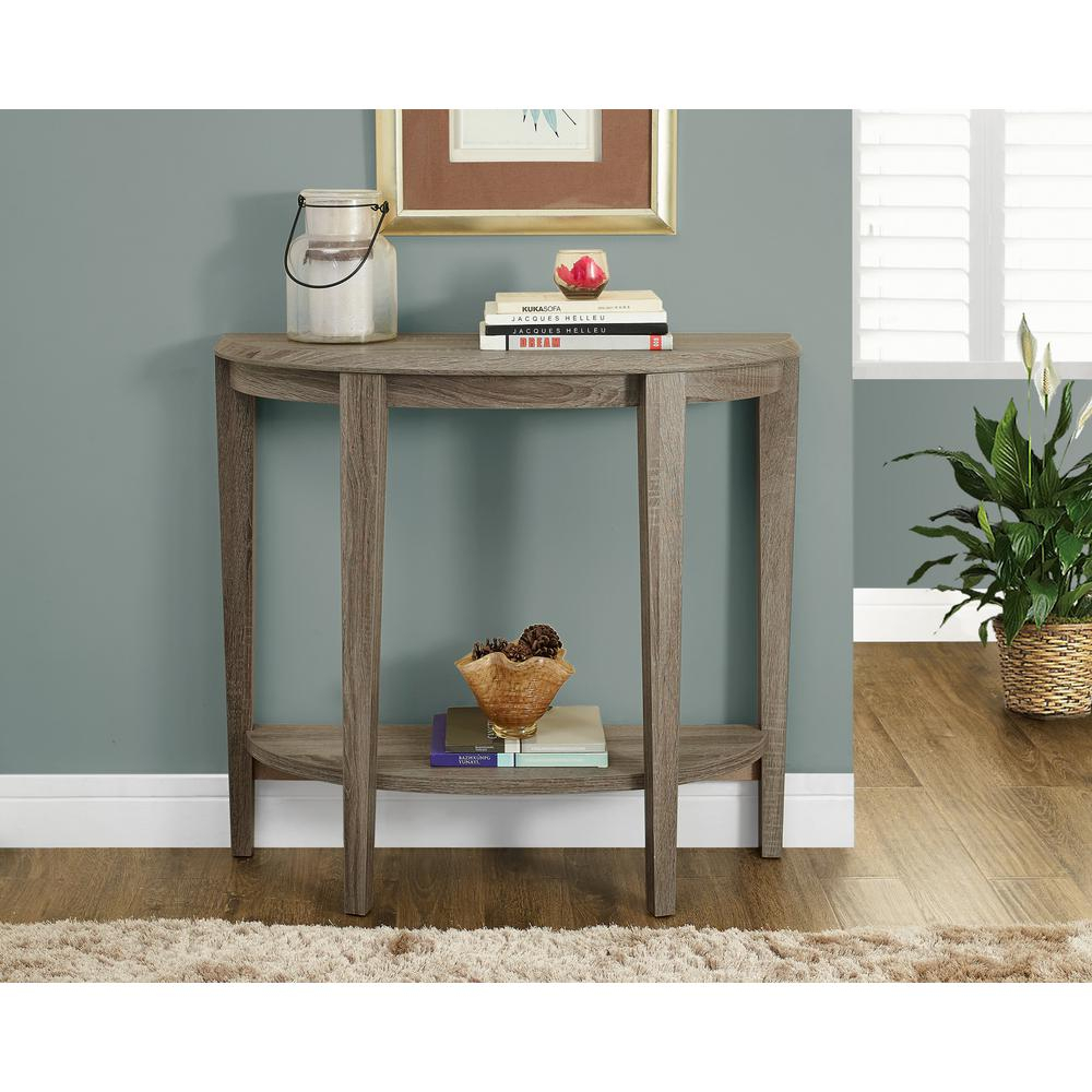 Monarch Specialties Dark Taupe Console Table-I 2452 - The Home Depot within Jacque Console Tables (Image 27 of 30)