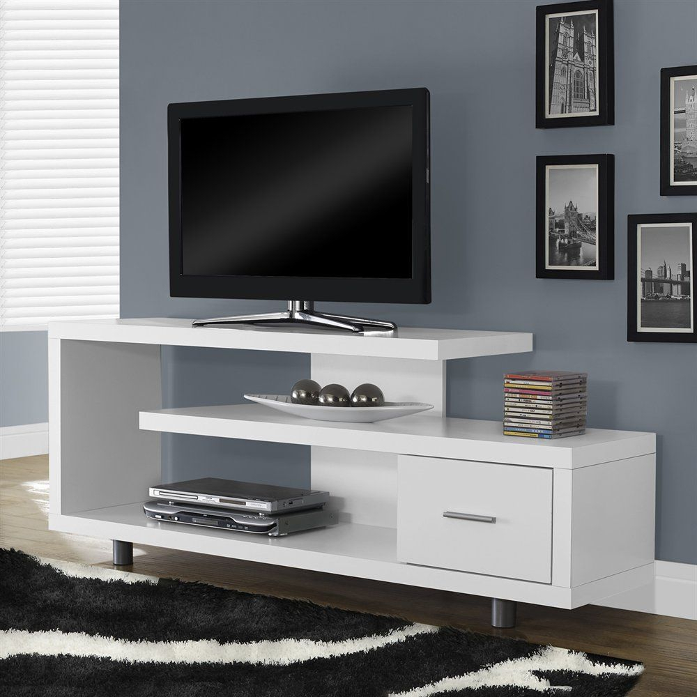 Monarch Specialties I 257 Hollow Core Tv Console | Atg Stores | Tv In Kenzie 60 Inch Open Display Tv Stands (View 10 of 30)