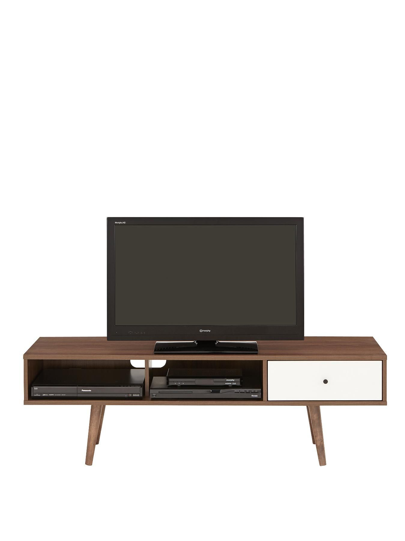 Monty Retro Tv Unit - Fits Up To 60 Inch Tv | Living Room for Century White 60 Inch Tv Stands (Image 19 of 30)