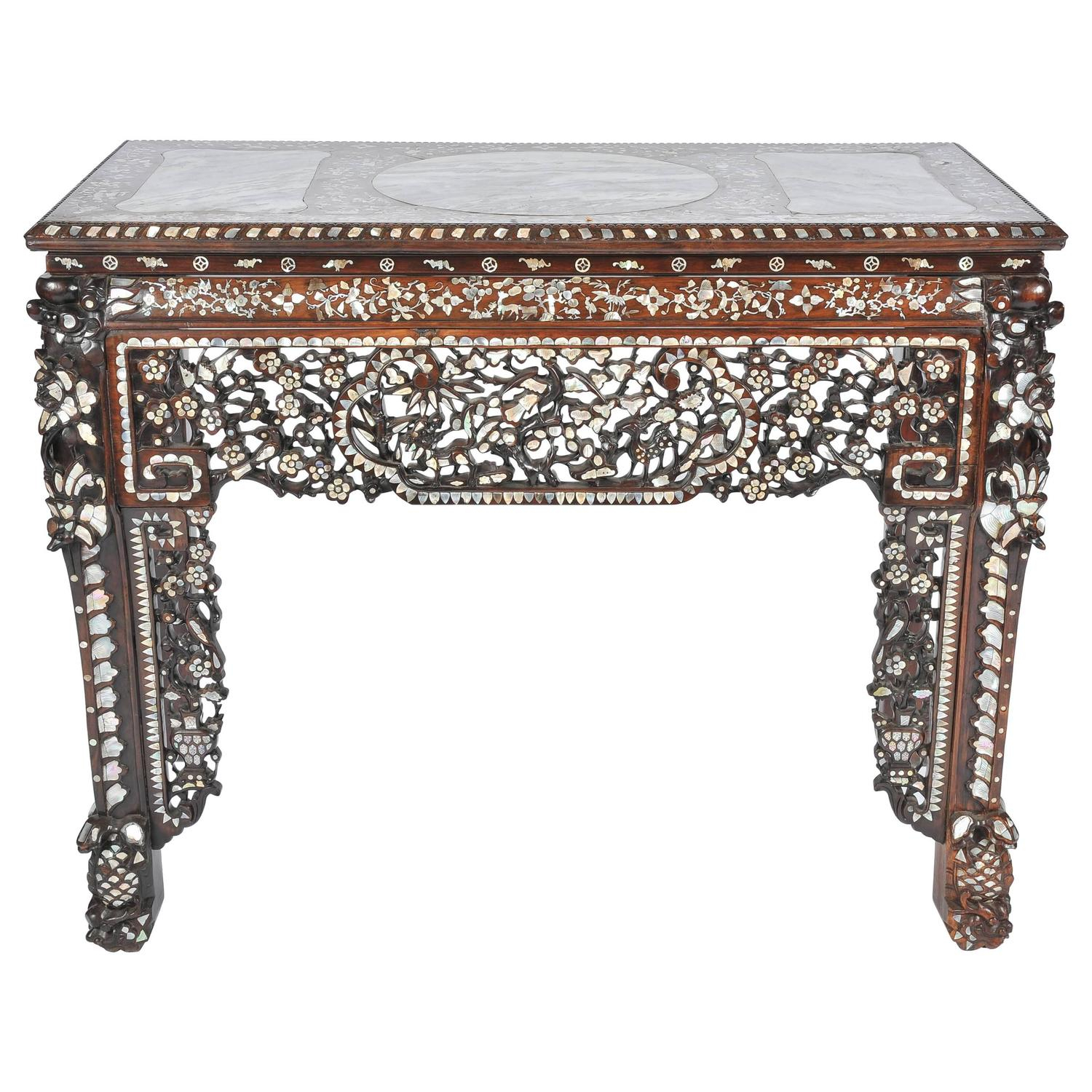 Mother Of Pearl Console Tables – 9 For Sale At 1Stdibs Pertaining To Orange Inlay Console Tables (View 23 of 30)