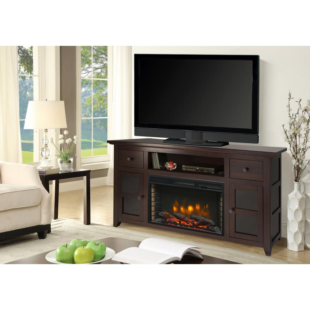Muskoka Winchester 56 In. Freestanding Electric Fireplace Tv Stand with regard to Canyon 54 Inch Tv Stands (Image 16 of 30)