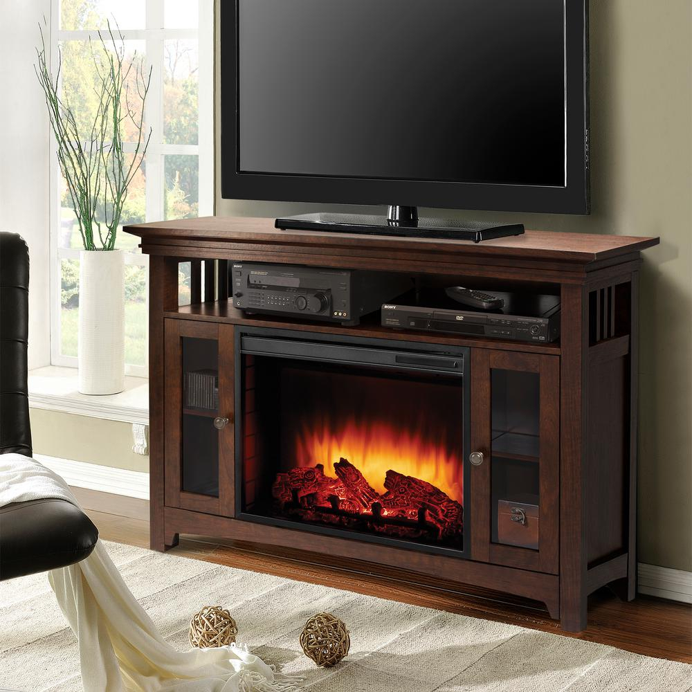 Muskoka Wyatt 48 In. Freestanding Electric Fireplace Tv Stand In with regard to Wyatt 68 Inch Tv Stands (Image 14 of 30)