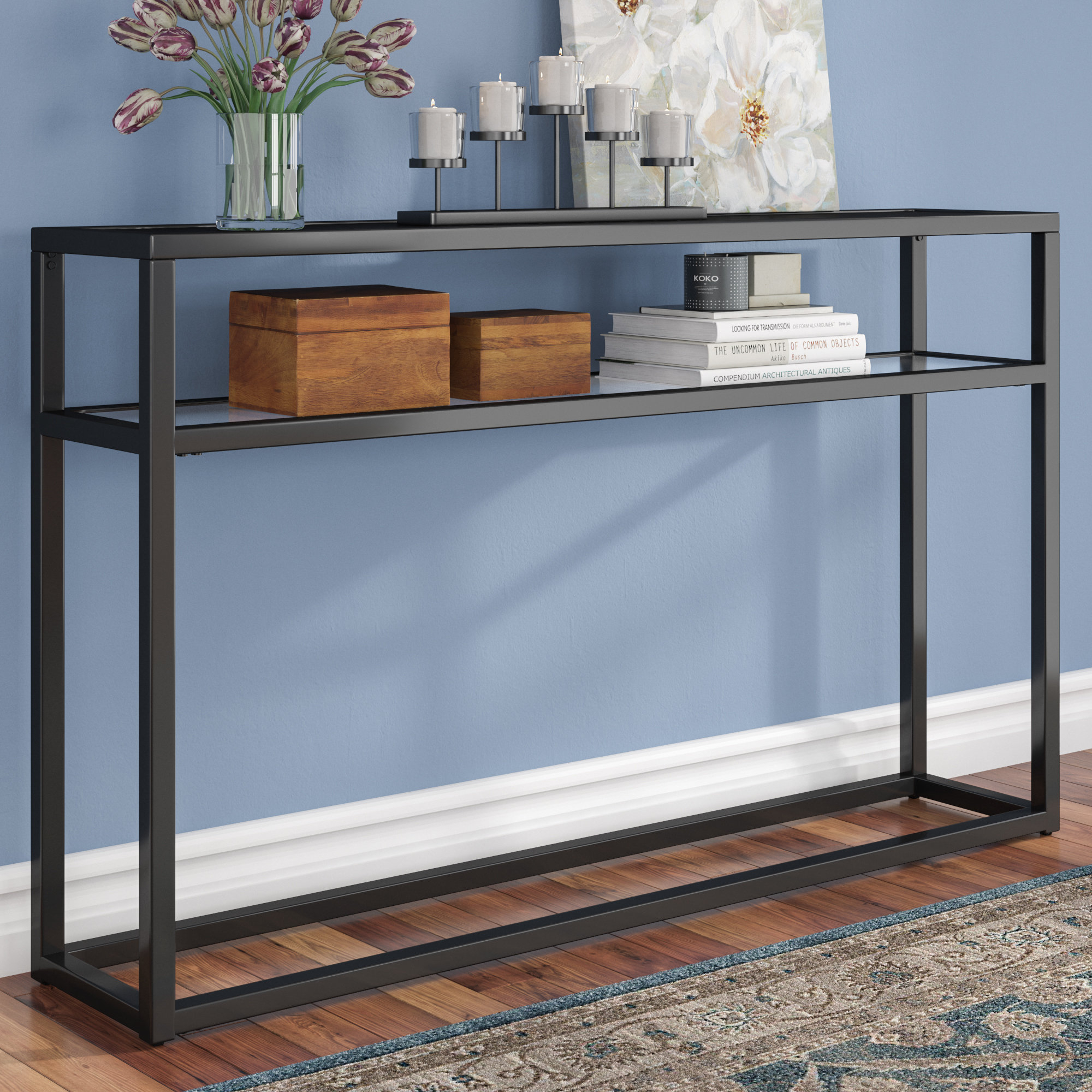 Narrow Console Tables You'll Love | Wayfair.ca Intended For Mix Patina Metal Frame Console Tables (Photo 23 of 30)