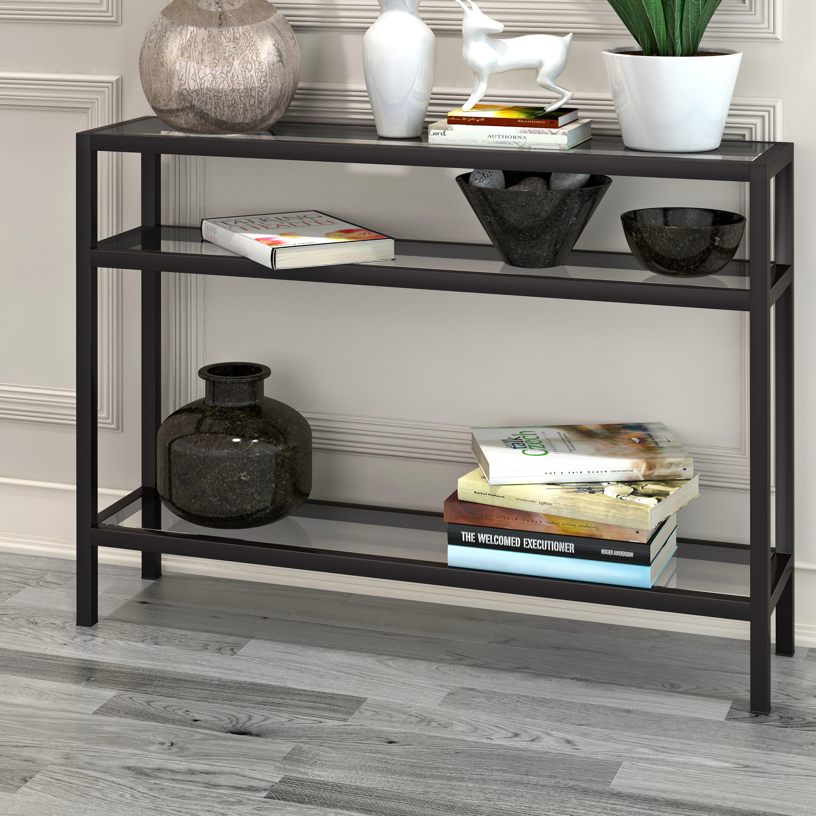 Narrow Console Tables You'll Love | Wayfair throughout Natural Cane Media Console Tables (Image 17 of 30)