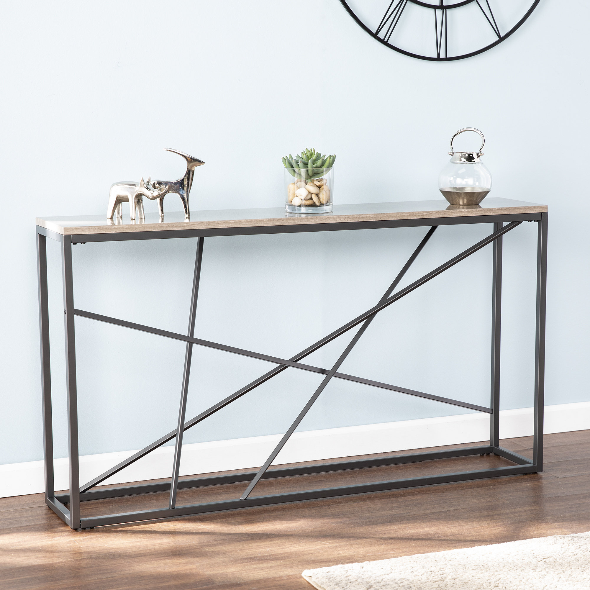 Narrow Console Tables You'll Love | Wayfair Throughout Natural Cane Media Console Tables (Photo 9 of 30)