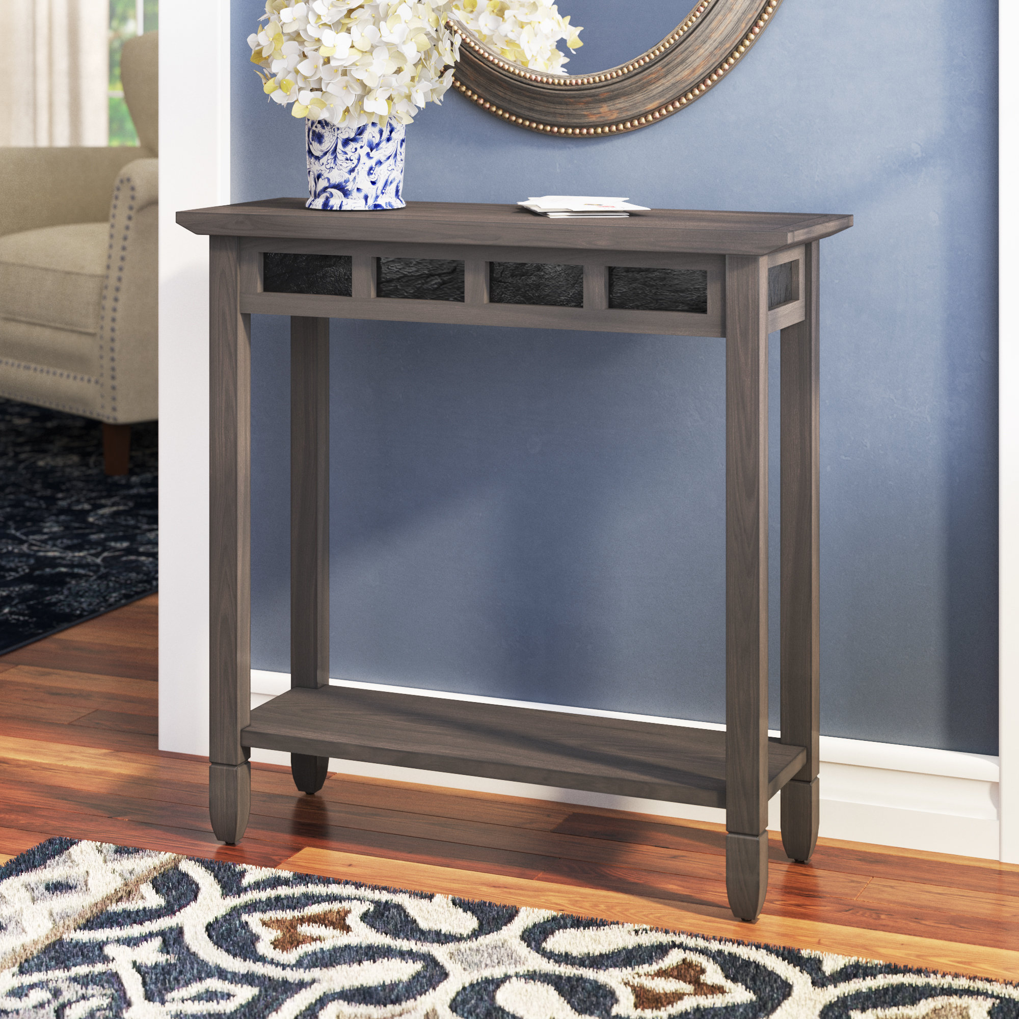 Narrow Console Tables You'll Love | Wayfair With Layered Wood Small Square Console Tables (View 22 of 30)