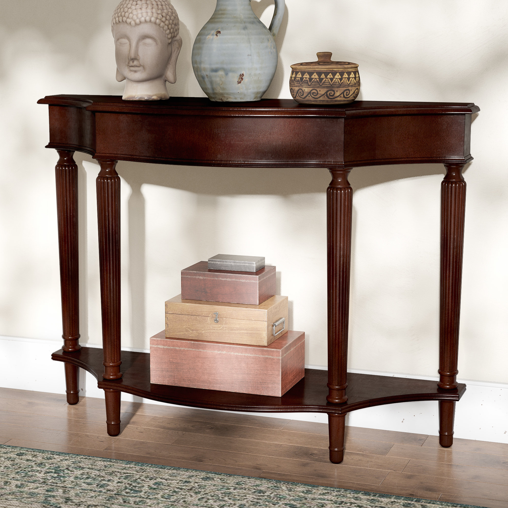 Narrow Console Tables You'll Love | Wayfair Within Layered Wood Small Square Console Tables (View 9 of 30)