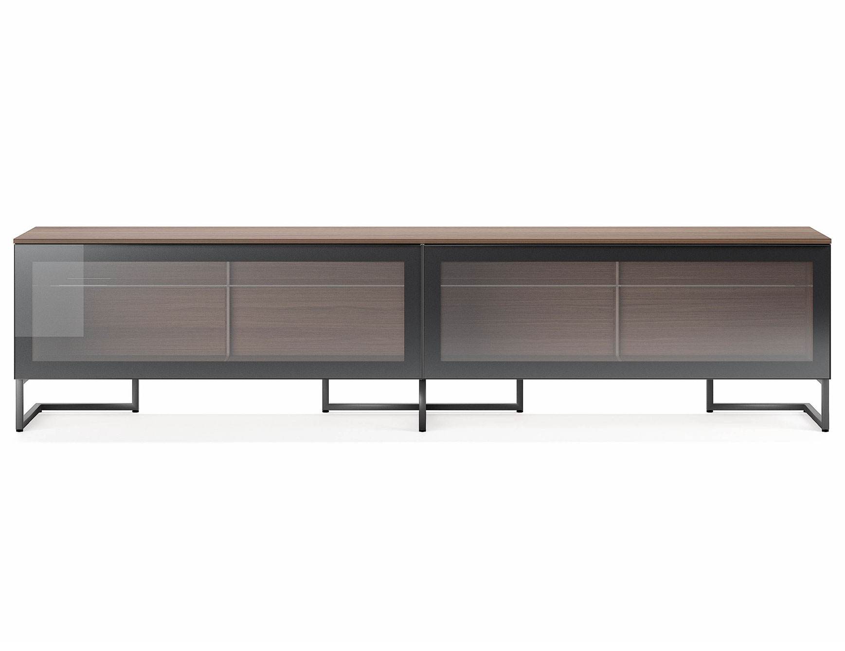 Nella Vetrina Pianca Spazio Sgm240 Contemporary Italian Tv Unit In For Burnt Oak Metal Sideboards (Photo 15 of 30)