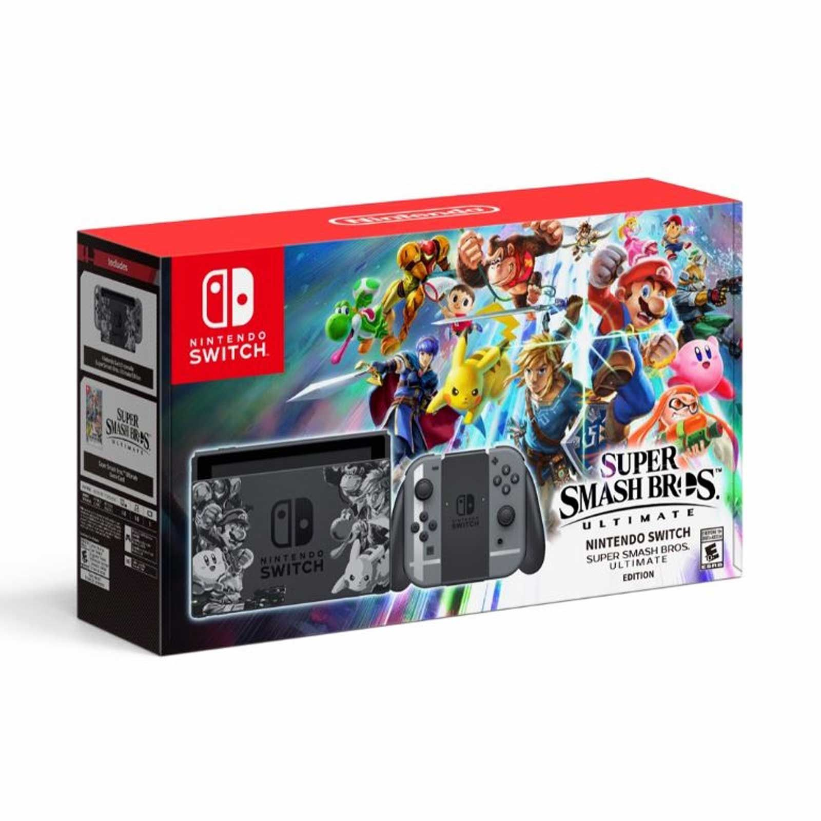 Nintendo Super Smash Bros Edition Switch Console In Switch Console Tables (View 22 of 30)