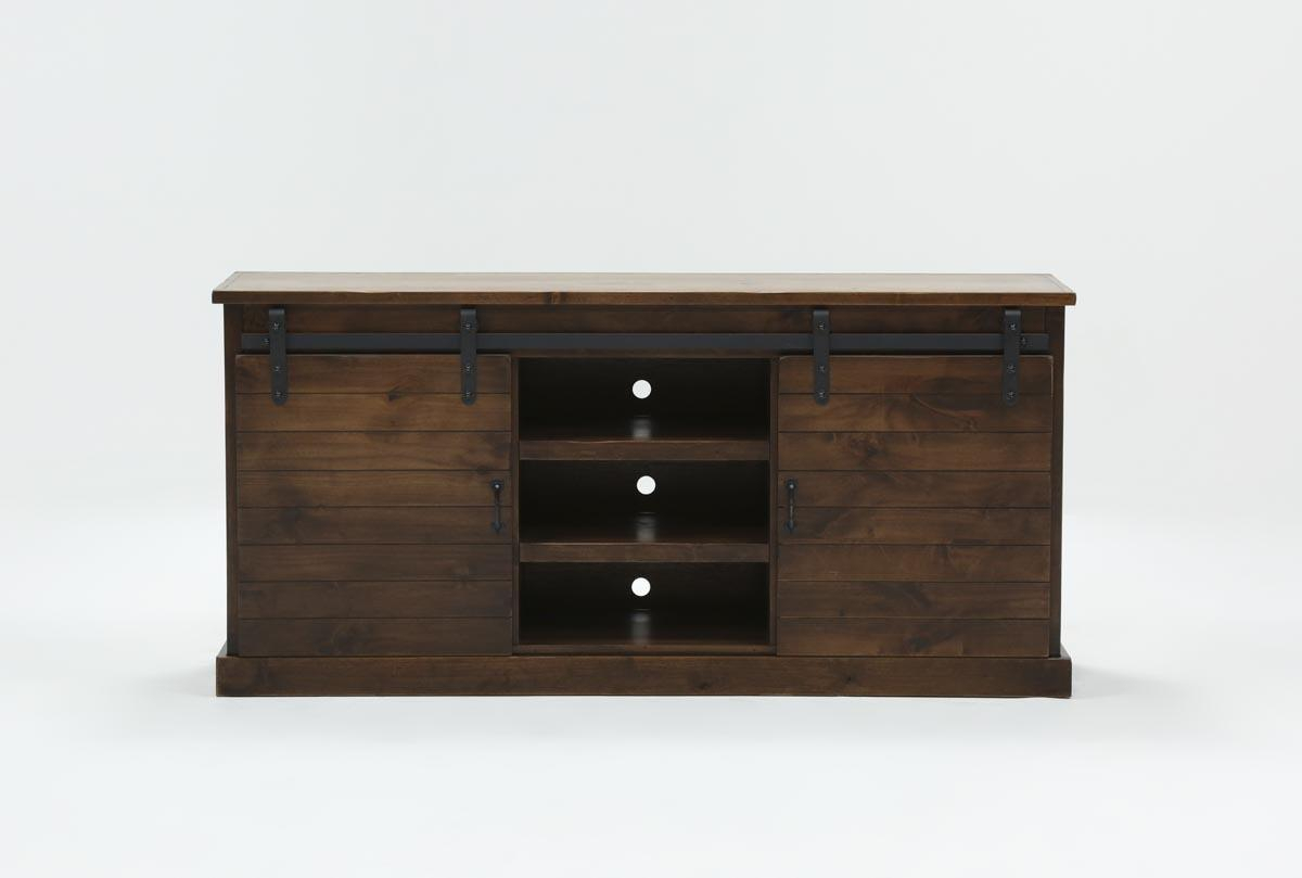 Noah Aged Whiskey 66 Inch Tv Stand | Living Spaces For Lauderdale 74 Inch Tv Stands (View 2 of 30)