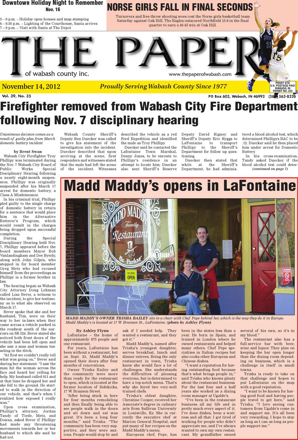 Nov. 14, 2012The Paper Of Wabash County - Issuu pertaining to Maddy 50 Inch Tv Stands (Image 17 of 30)
