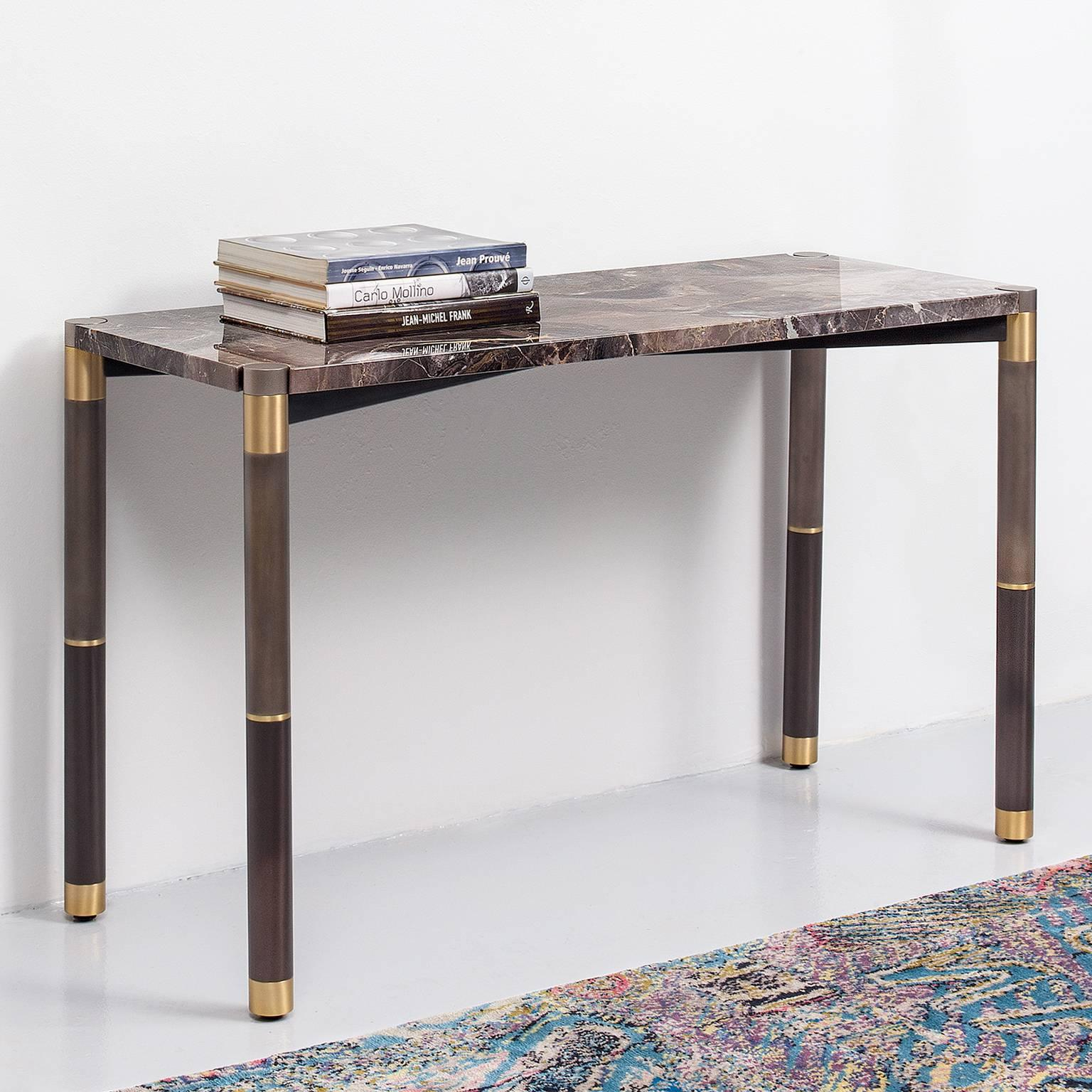 Nova Marble Console Tableavram Rusu Studio For Sale At 1Stdibs regarding Mix Agate Metal Frame Console Tables (Image 22 of 30)
