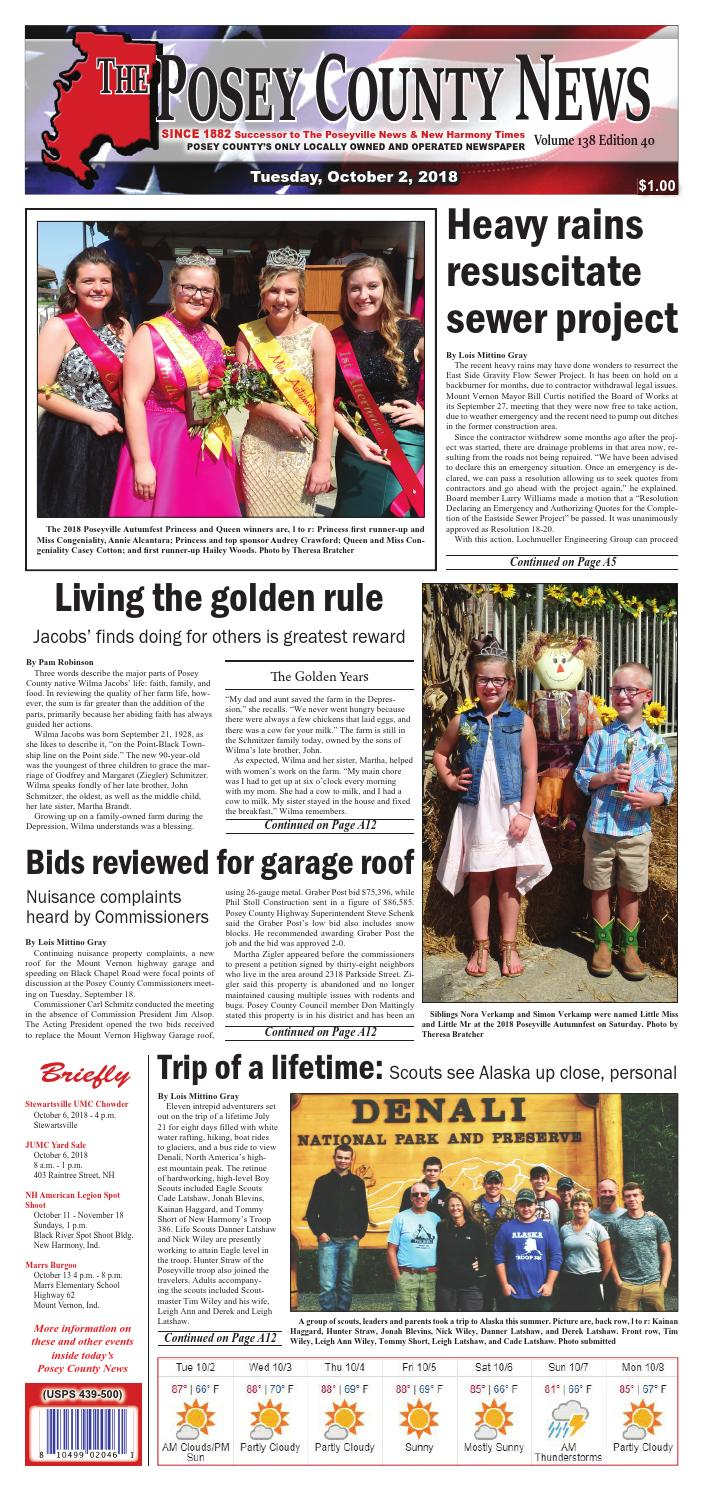 October 2, 2018 – The Posey County Newsthe Posey County News – Issuu Within Preston 66 Inch Tv Stands (View 12 of 28)