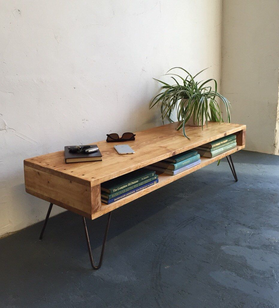 Oldfield Low Mid Century Style Side Table/derelictdesign inside Walters Media Console Tables (Image 15 of 30)