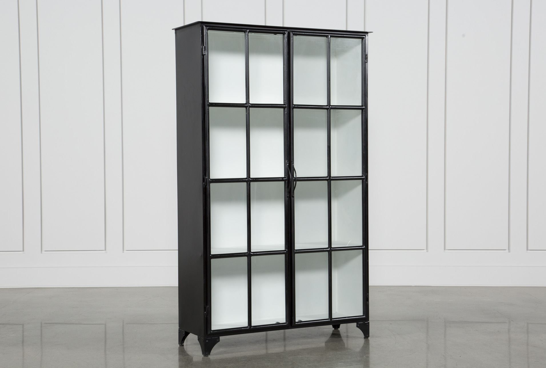 Otb Satin Black & Painted White Cabinet | White Cabinets Inside Mikelson Media Console Tables (View 4 of 30)