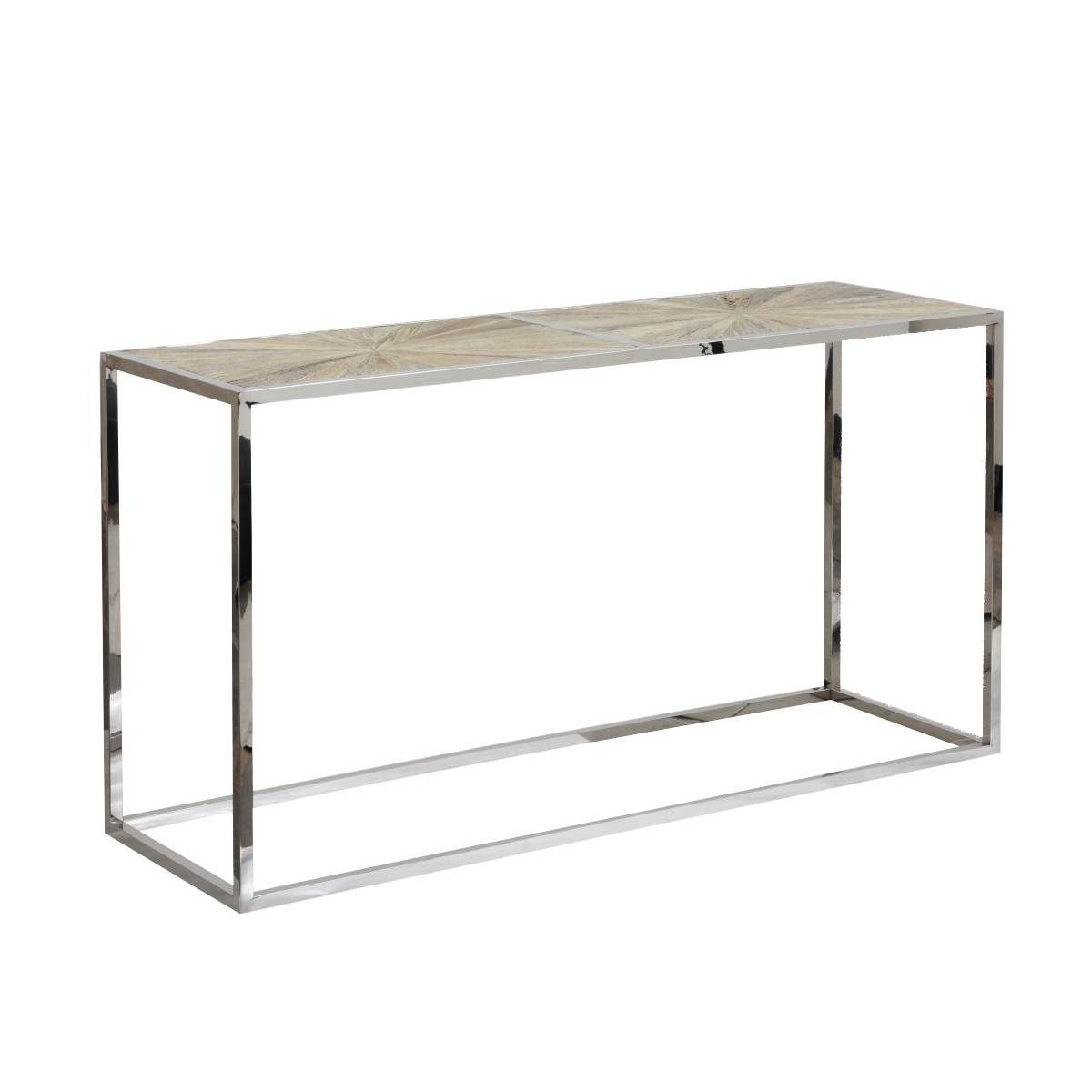 Parquet Console Table | Marshall | Pinterest Within Parsons Concrete Top & Brass Base 48x16 Console Tables (View 10 of 30)