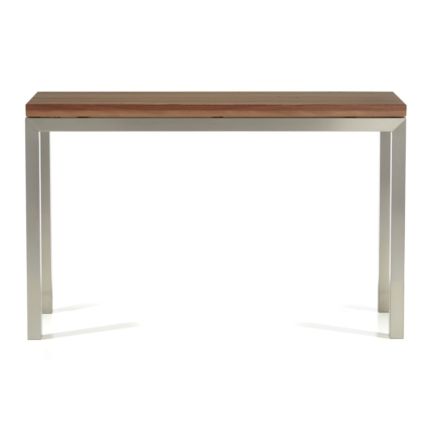 Parsons Reclaimed Wood Top/ Stainless Steel Base 48X16 Console With Parsons Concrete Top & Dark Steel Base 48X16 Console Tables (Photo 23 of 30)