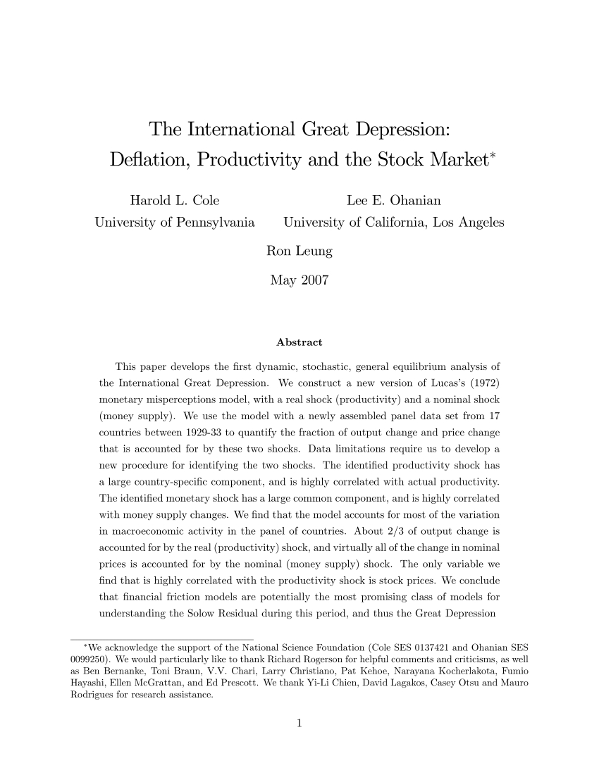 Pdf) The International Great Depression: De‡ation, Productivity And within Casey Umber 74 Inch Tv Stands (Image 25 of 30)
