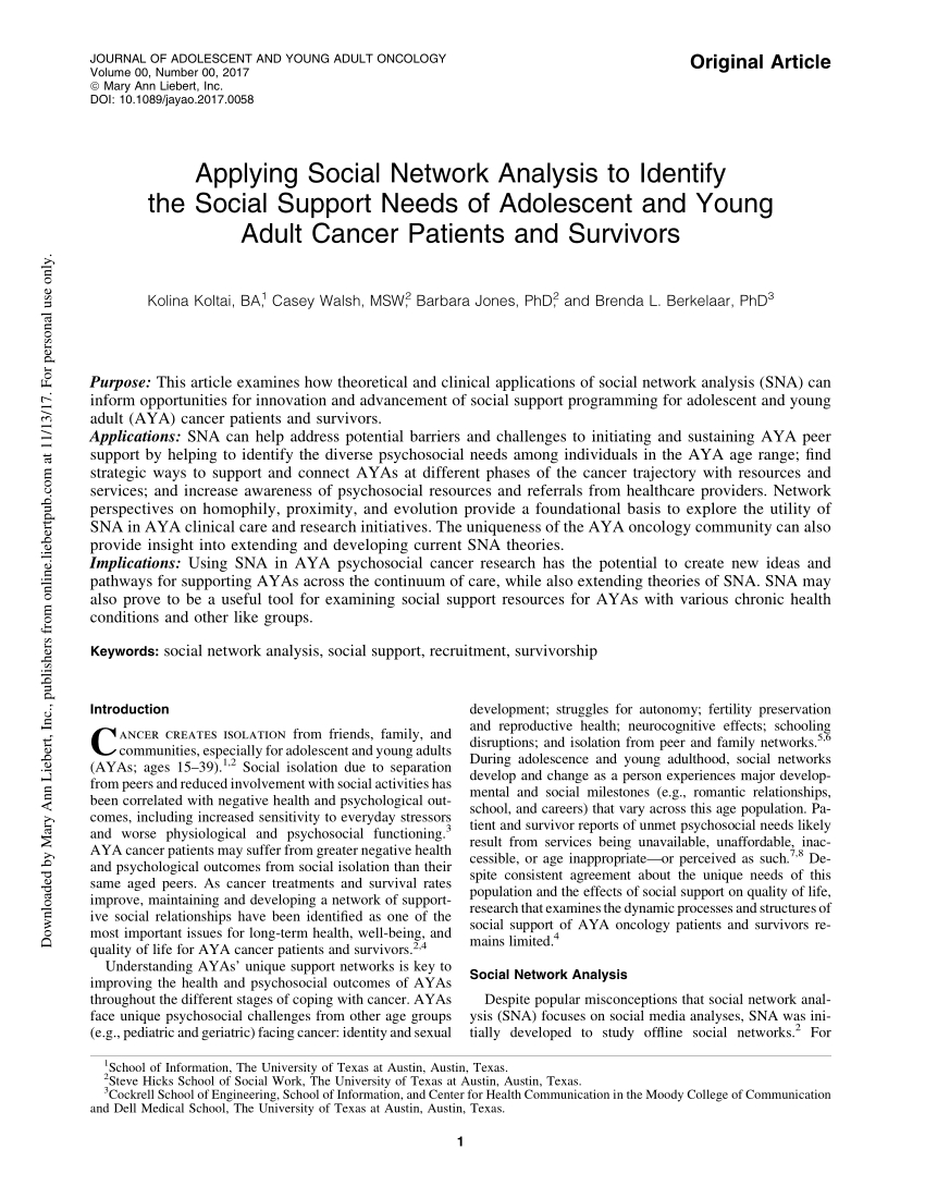 Pdf) Understanding Cancer Based Networks In Twitter Using Social Within Casey Umber 54 Inch Tv Stands (View 20 of 26)