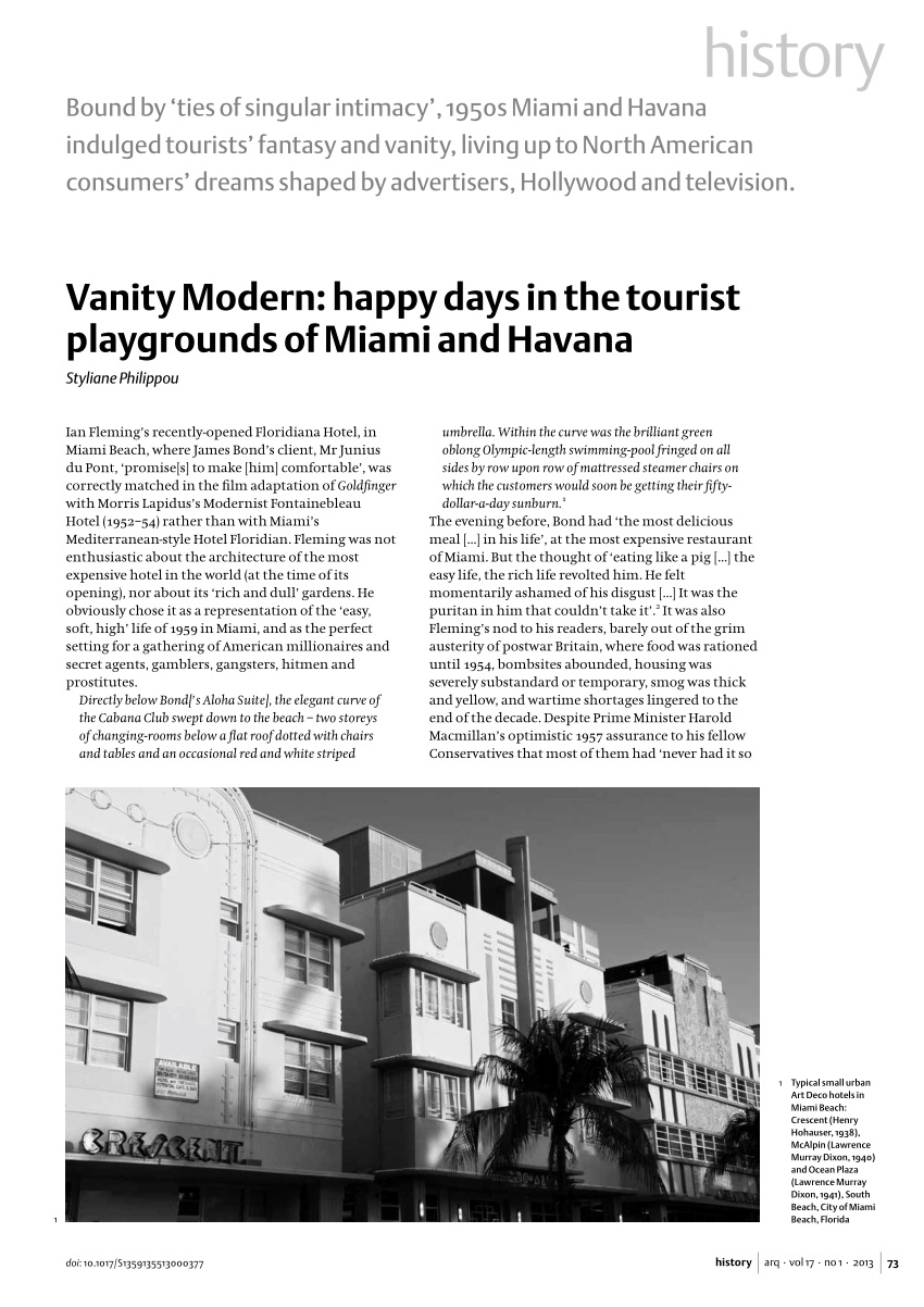 Pdf) Vanity Modern: Happy Days In The Tourist Playgrounds Of Miami Intended For Dixon White 84 Inch Tv Stands (Photo 9 of 30)