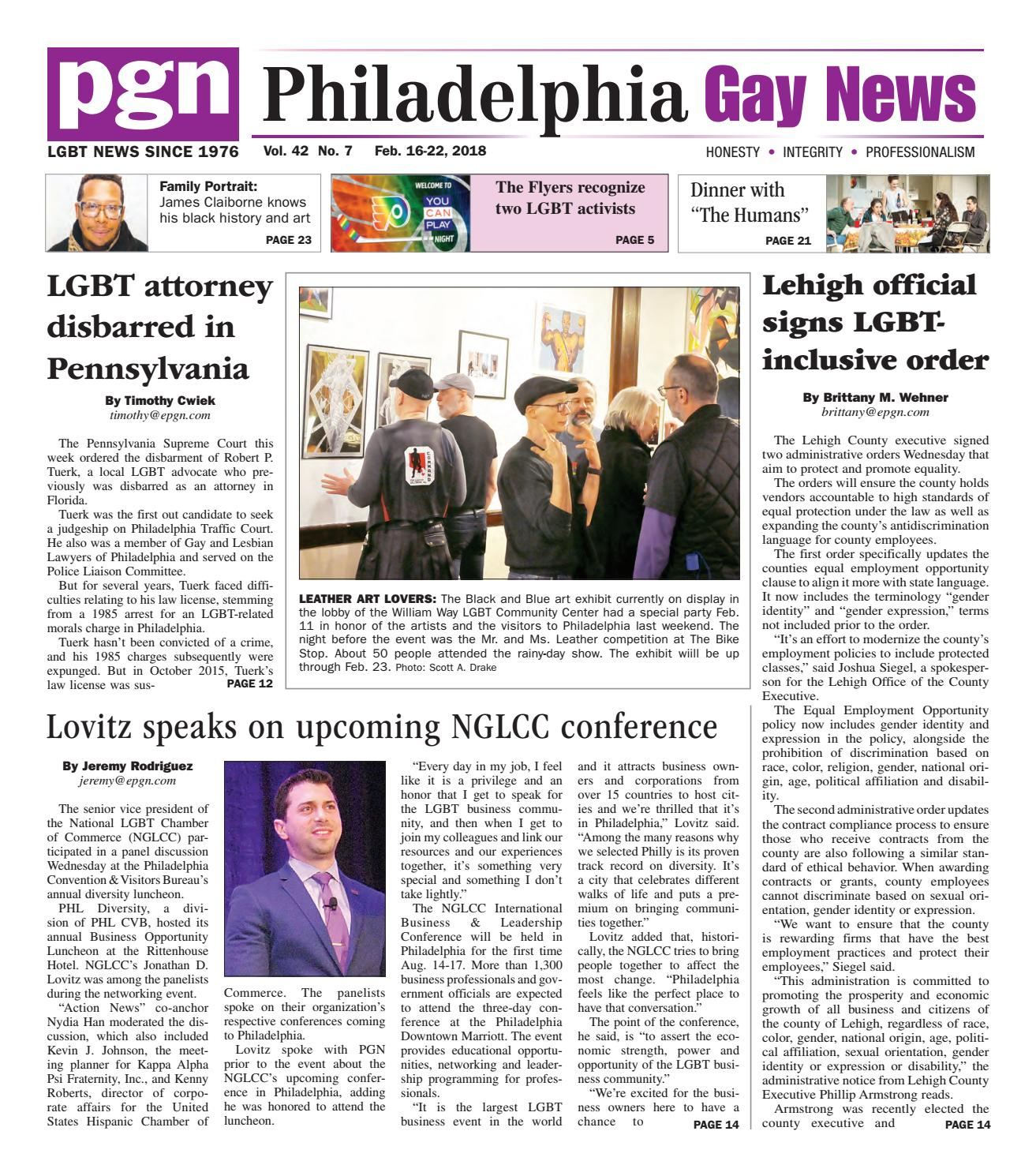 Pgn Feb. 16  22, 2018The Philadelphia Gay News   Issuu Throughout Kilian Black 49 Inch Tv Stands (Photo 19 of 30)