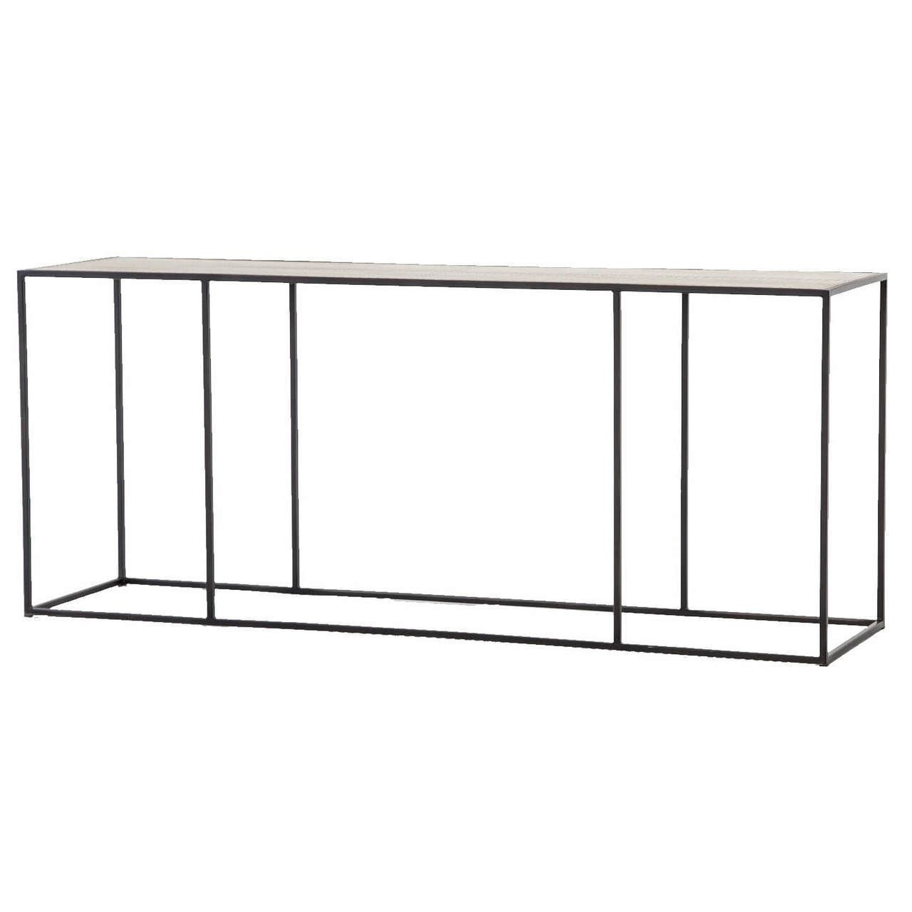 Phillip Antiqued Copper Clad Industrial Console Table 70 In Silviano 84 Inch Console Tables (View 13 of 30)