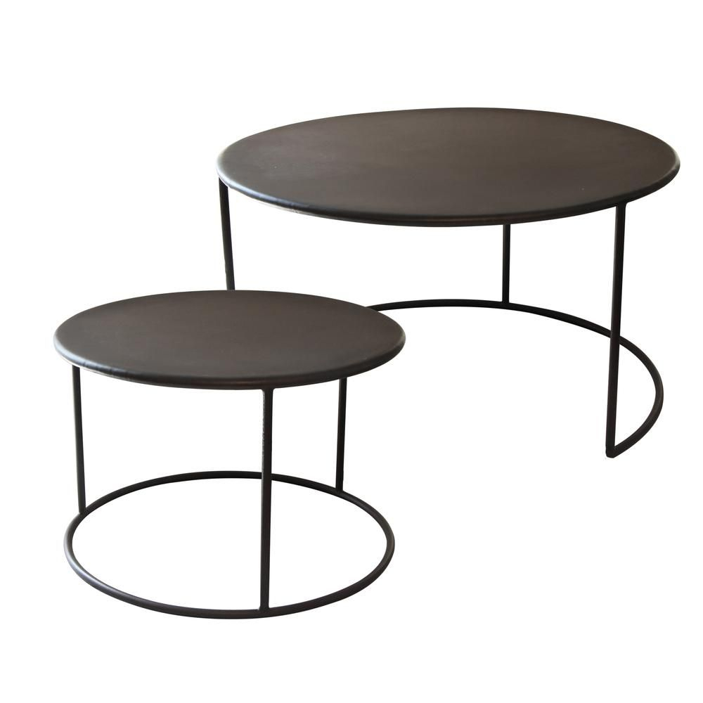 Phillip Iron Nesting Coffee Tables Set/2 | Coffee Tables | Pinterest with Phillip Brass Console Tables (Image 21 of 30)