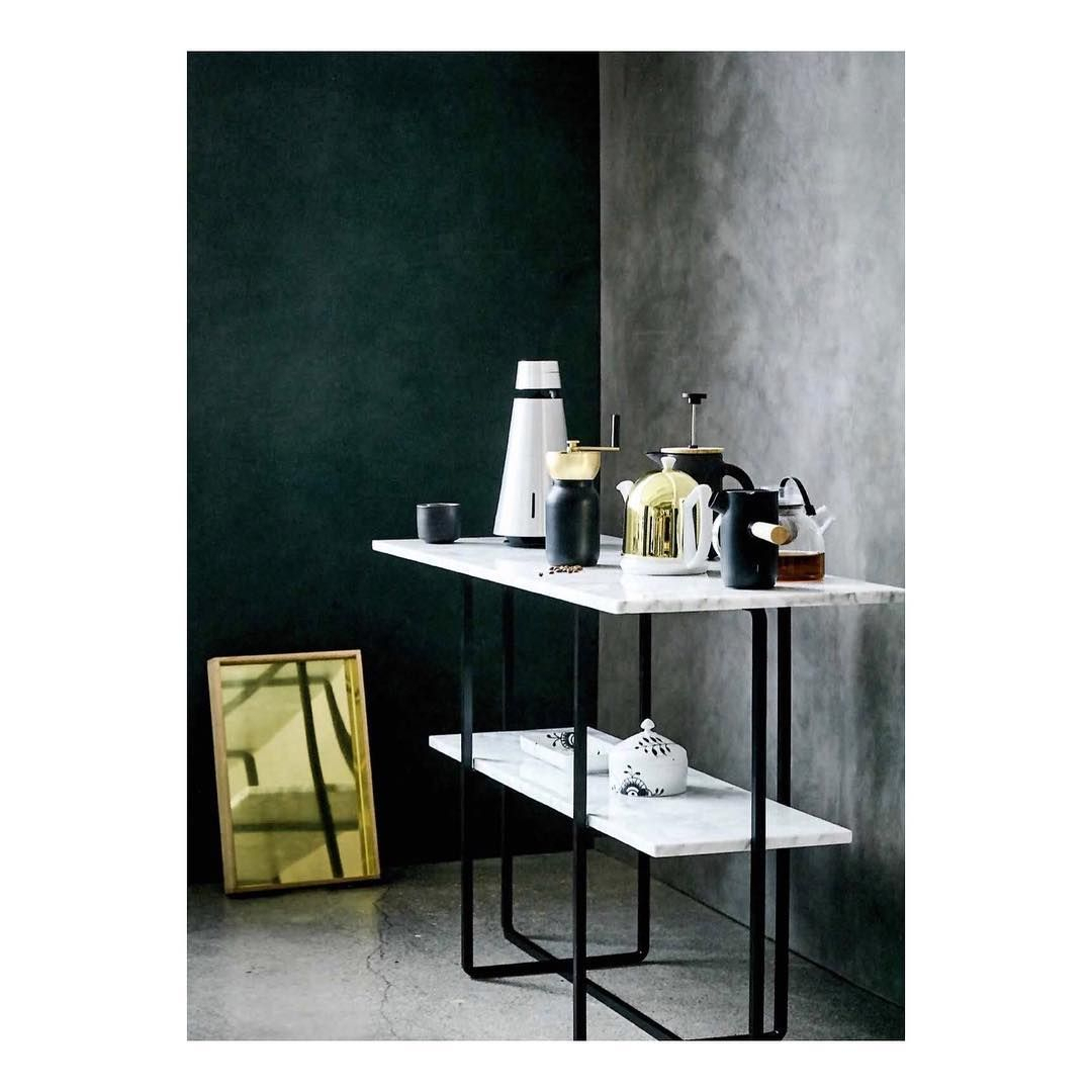 Pinox Denmarq On Council – Marble Console Table | Pinterest For Parsons White Marble Top & Stainless Steel Base 48x16 Console Tables (View 14 of 30)