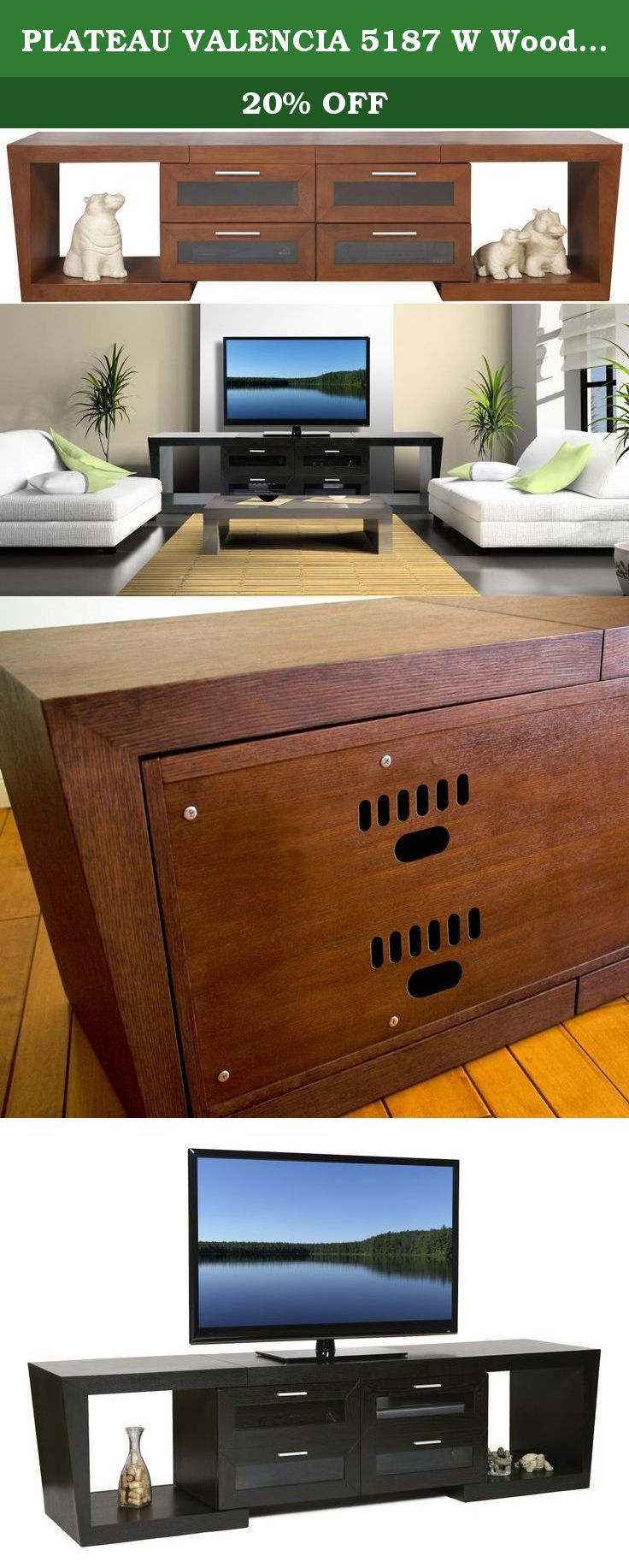 Plateau Valencia 5187 W Wood Expandable Tv Stand,… | Television Regarding Valencia 60 Inch Tv Stands (View 11 of 30)