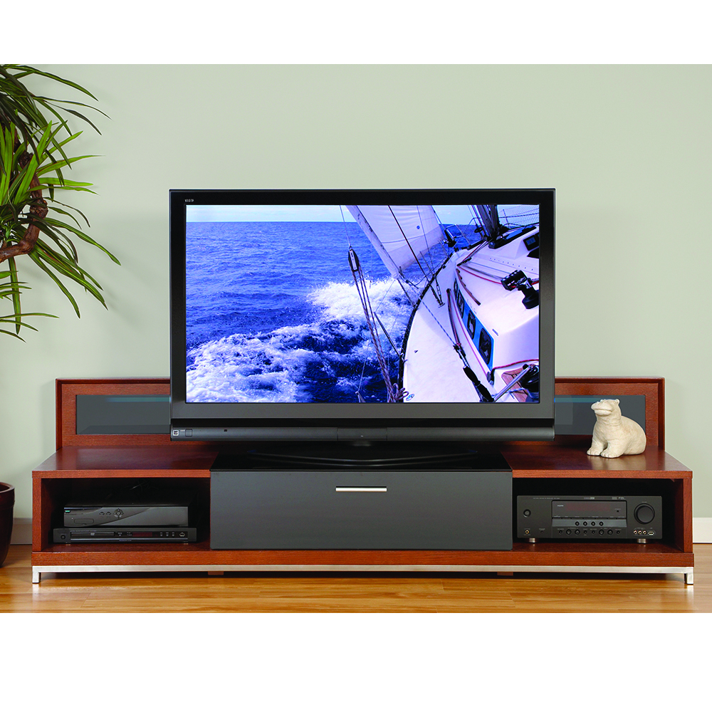 "Plateau Valencia 79W Tv Stand Up To 85"" Tvs In Walnut Finish In Valencia 60 Inch Tv Stands (Photo 27 of 30)"