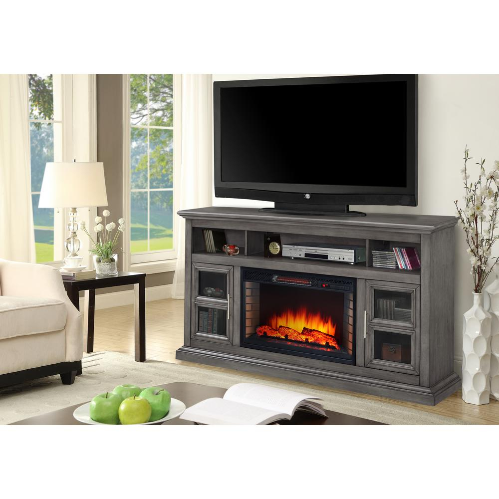 Pleasant Hearth Elliott 47 In. Media Electric Fireplace Tv Stand In intended for Wyatt 68 Inch Tv Stands (Image 16 of 30)