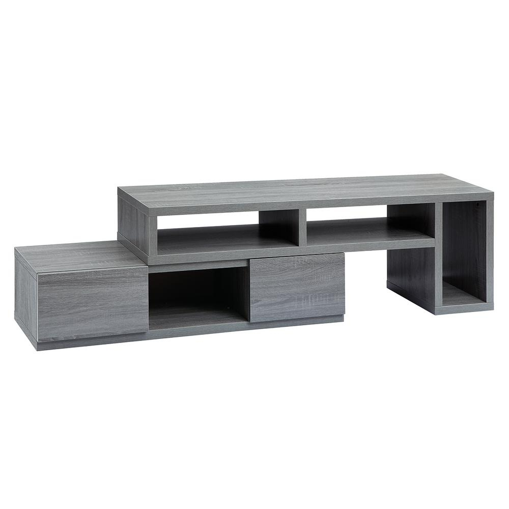 Pleasant Hearth Riley 47 In. Electric Fireplace Tv Stand Media Inside Sinclair Grey 68 Inch Tv Stands (Photo 26 of 30)