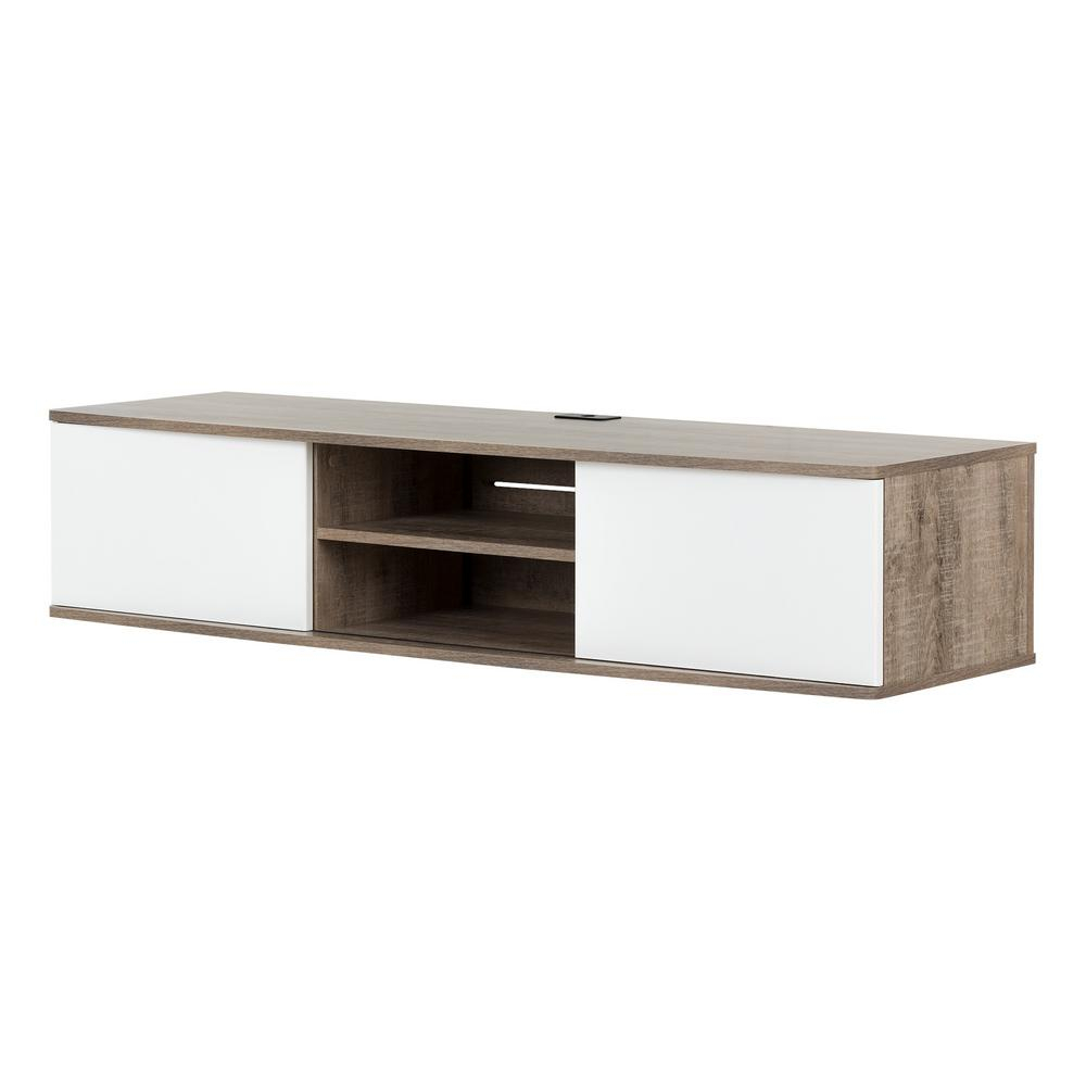 Pleasant Hearth Riley 47 In. Electric Fireplace Tv Stand Media intended for Sinclair Grey 68 Inch Tv Stands (Image 16 of 30)