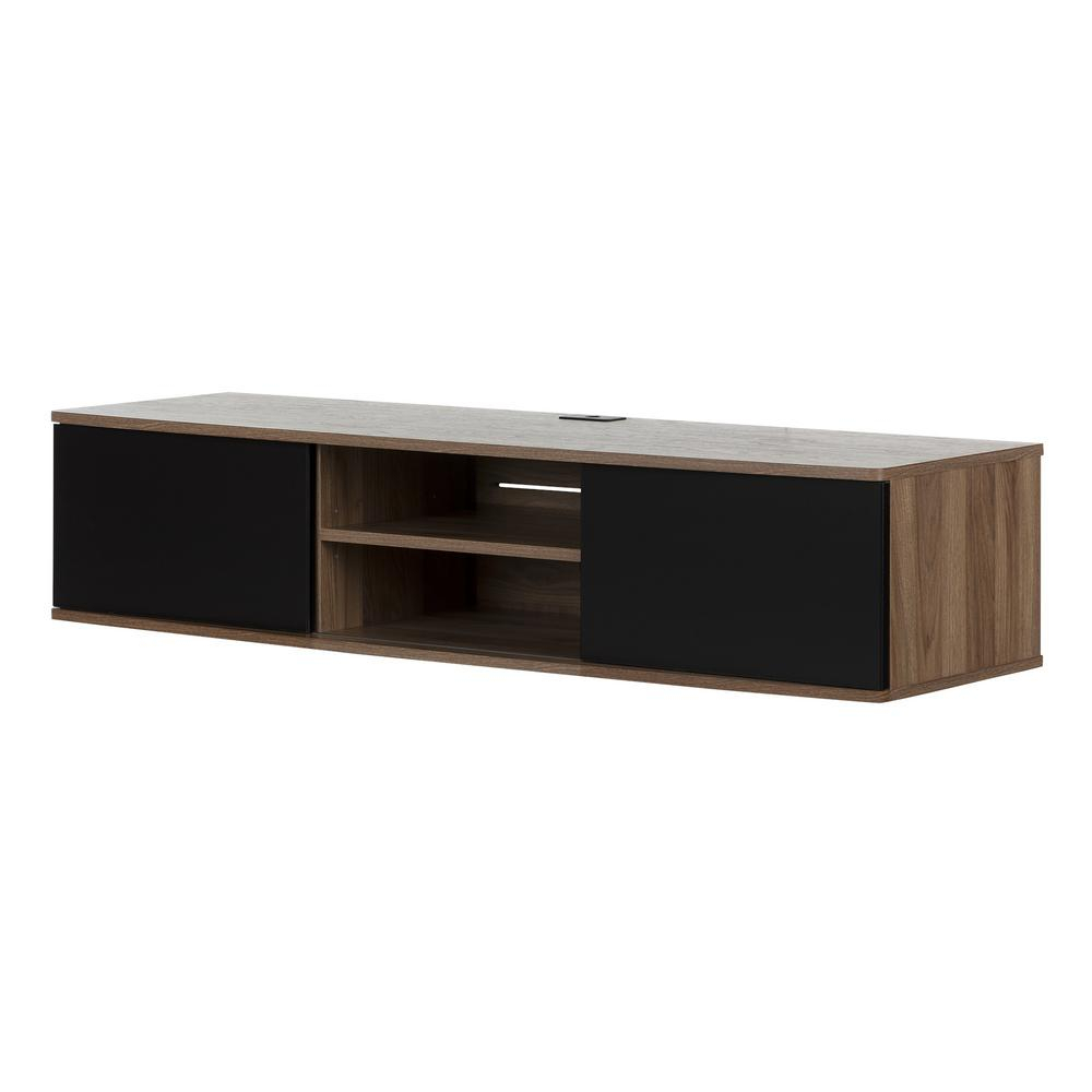 Pleasant Hearth Riley 47 In. Electric Fireplace Tv Stand Media Pertaining To Sinclair Grey 68 Inch Tv Stands (Photo 27 of 30)