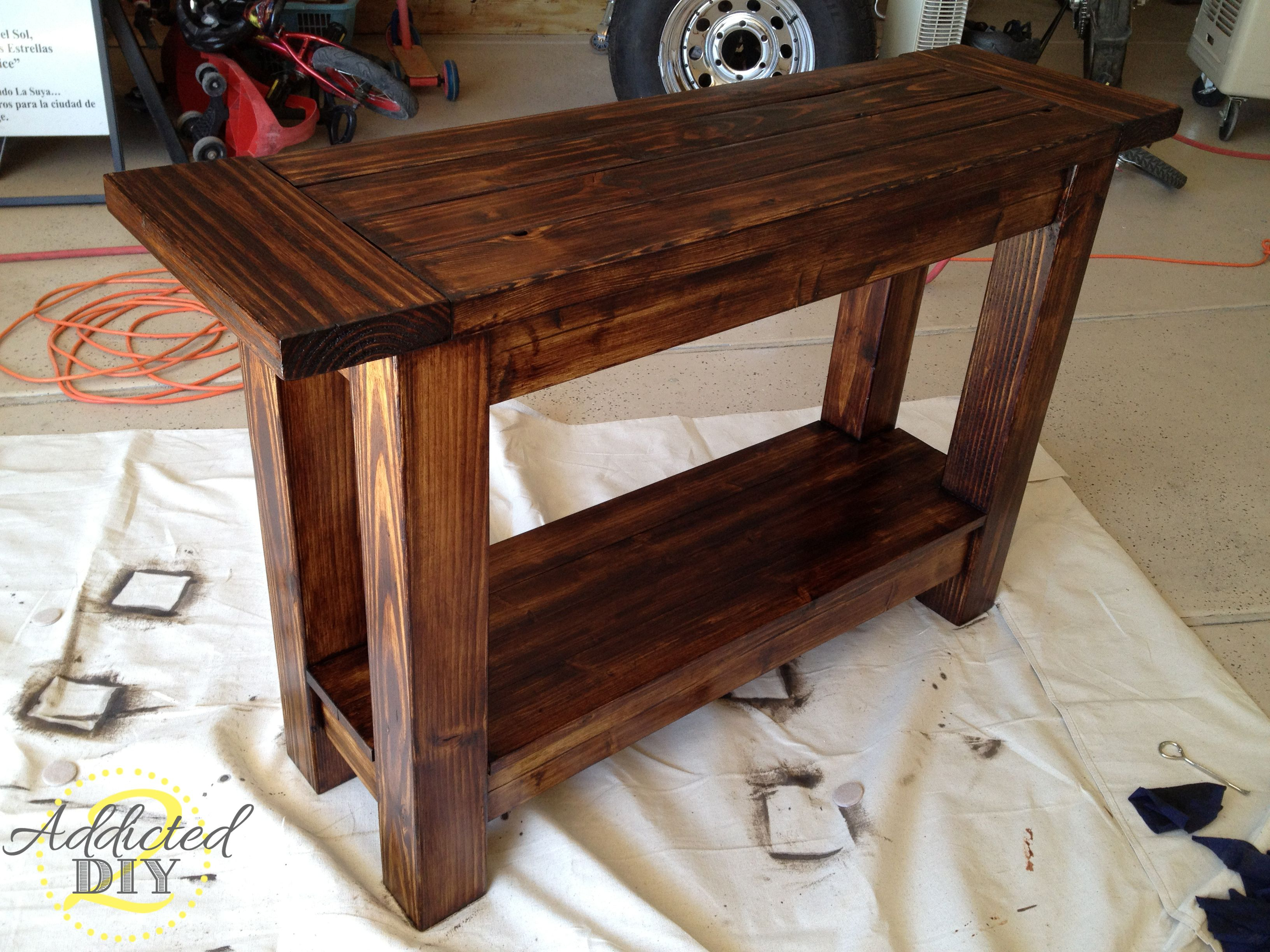 Pottery Barn Inspired Console Table | Diy Home Decor Idea intended for Walters Media Console Tables (Image 17 of 30)