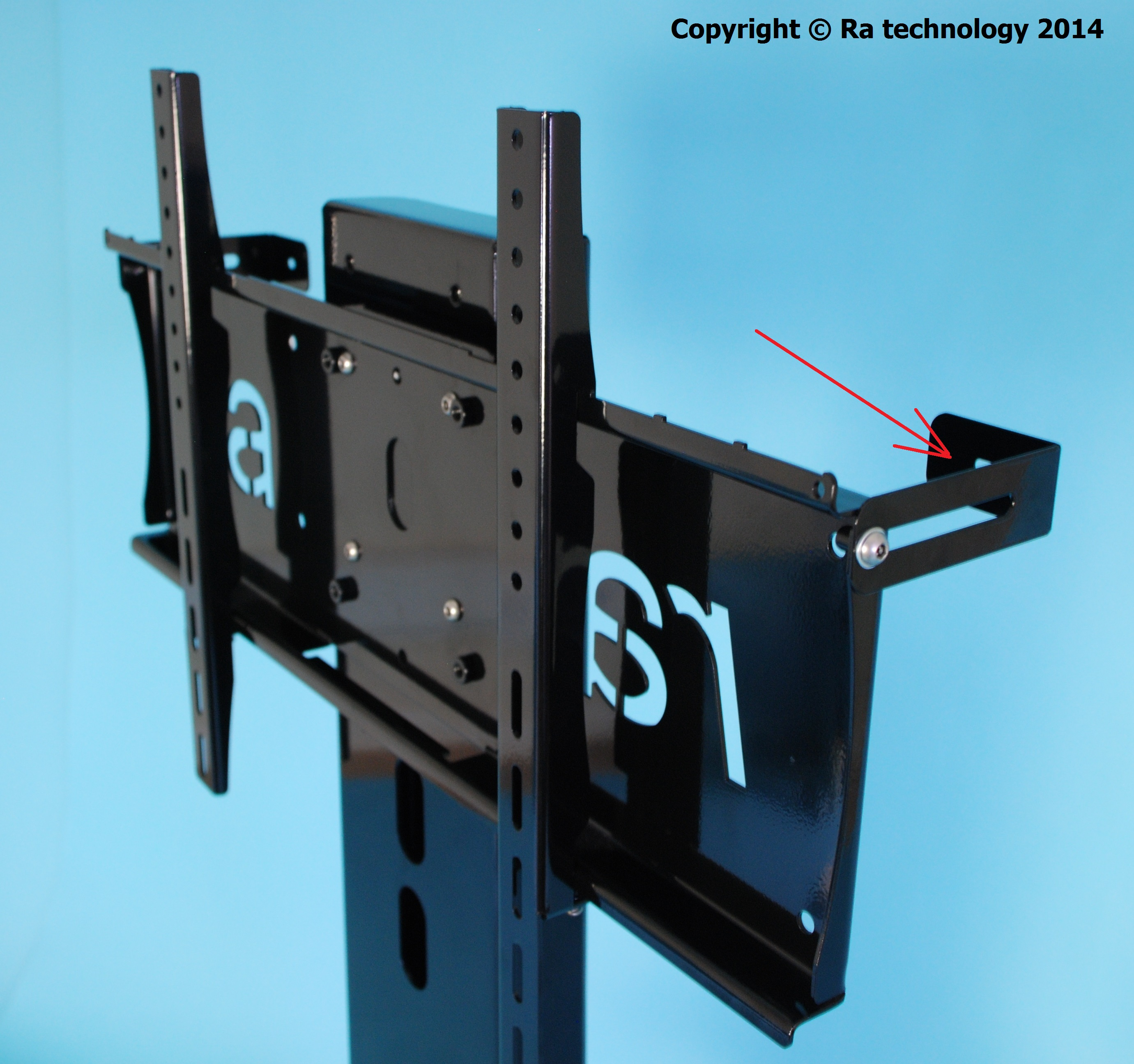 Ra Atlas Flat Screen Fixed Floor Stand For 65 - 85 Inch Screens pertaining to Wakefield 85 Inch Tv Stands (Image 15 of 30)