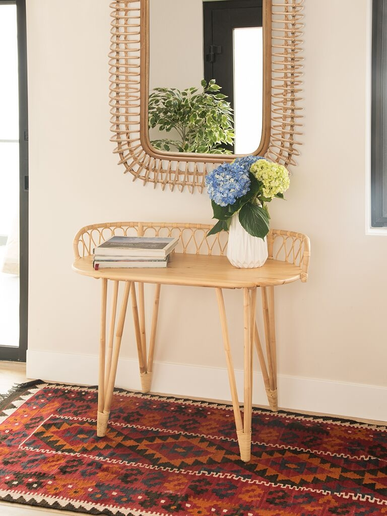 Rattan Tables - Rattan Furniture in Natural Cane Media Console Tables (Image 21 of 30)