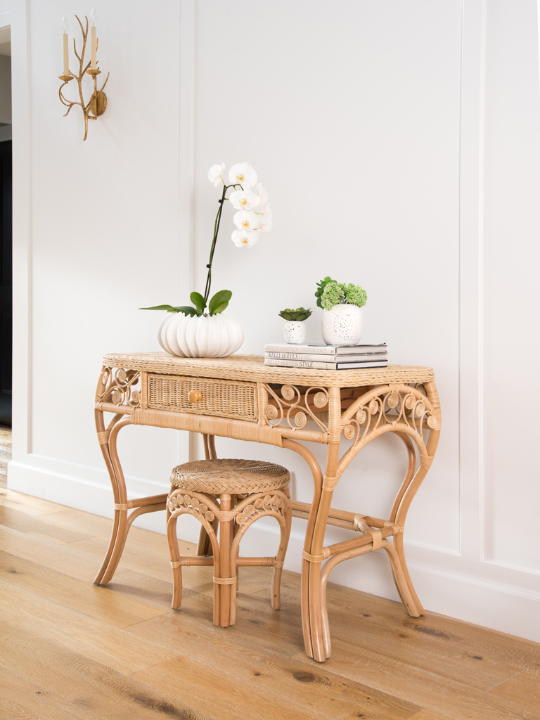 Rattan Tables - Rattan Furniture in Natural Cane Media Console Tables (Image 20 of 30)