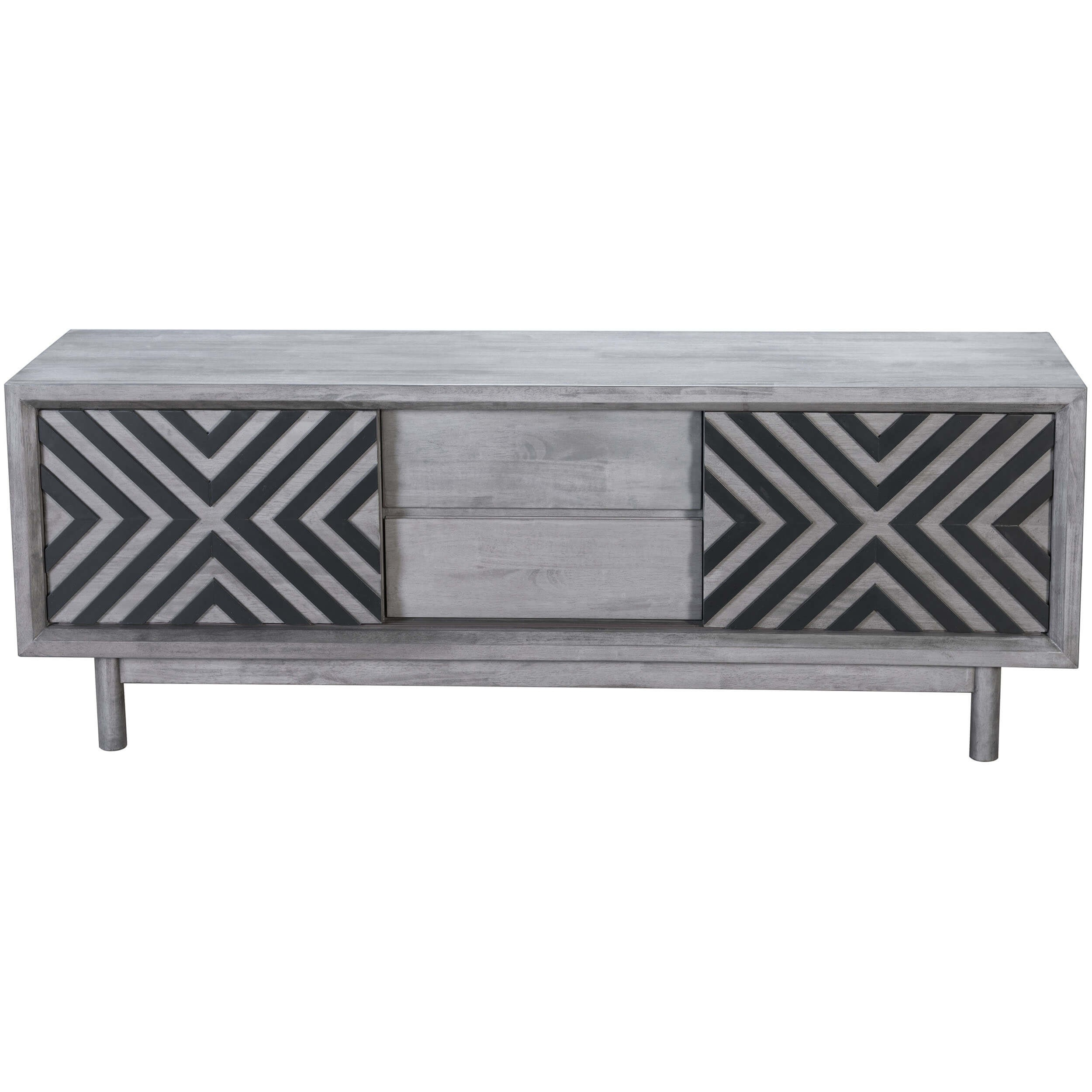 Raven Tv Stand, Old Gray – Zuo Modern – Furniture Pertaining To Raven Grey Tv Stands (Gallery 2 of 30)